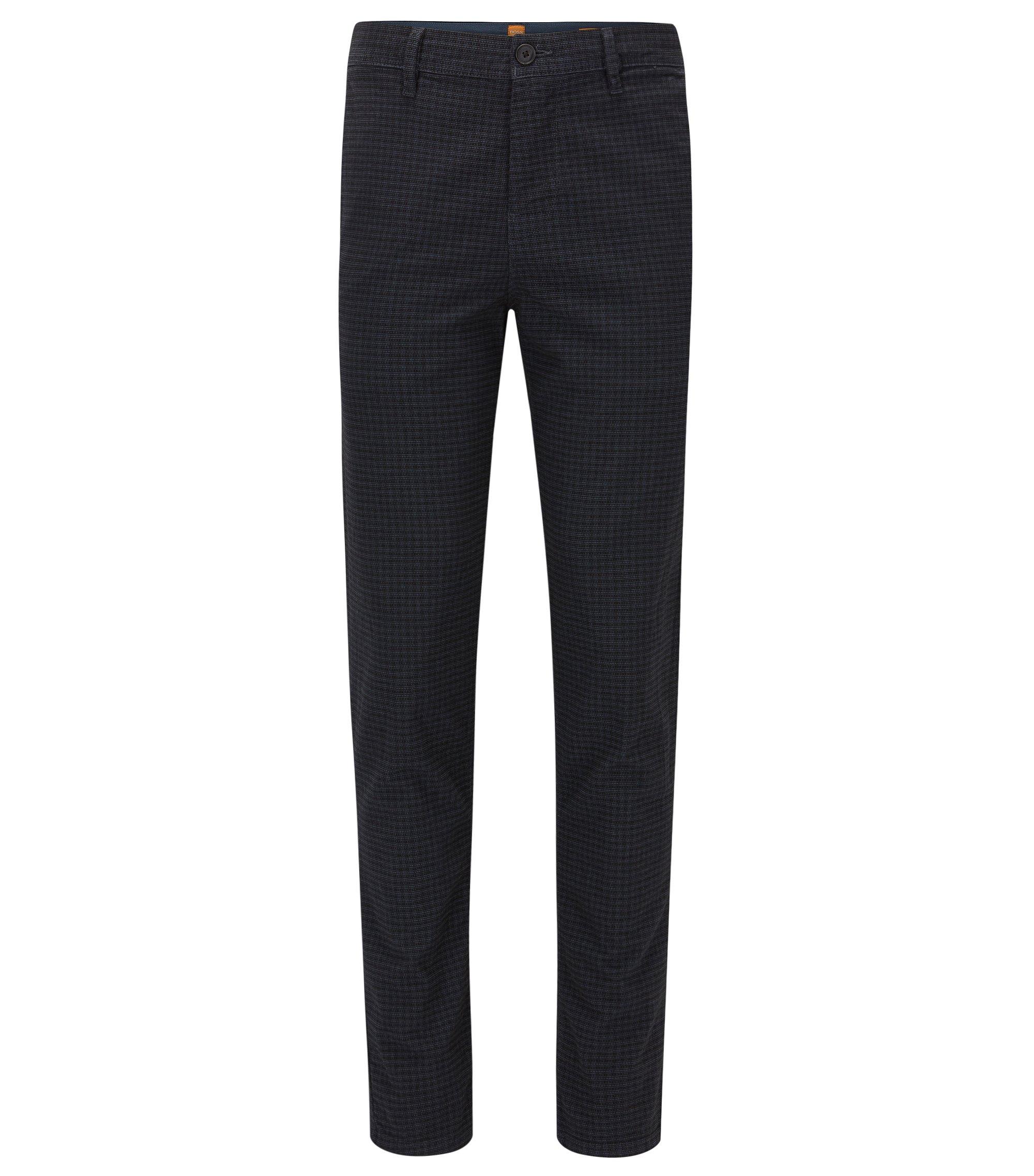 Pantalon Tapered Fit en coton mélangé, Bleu foncé