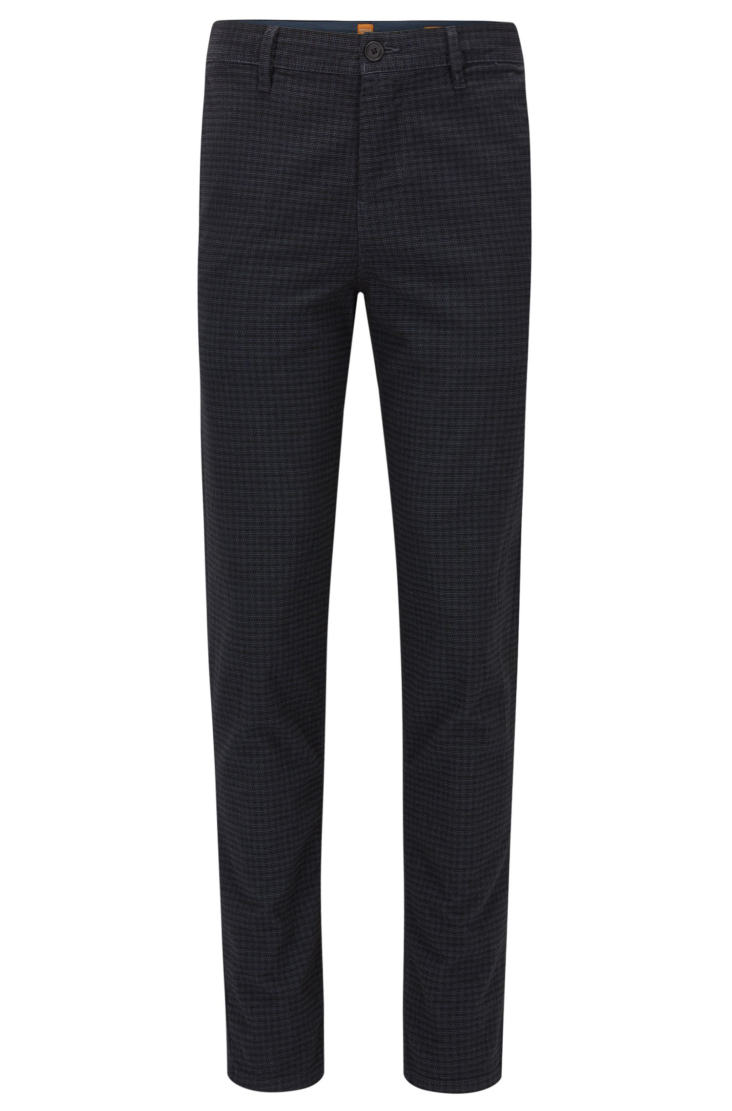Pantaloni tapered fit in misto cotone