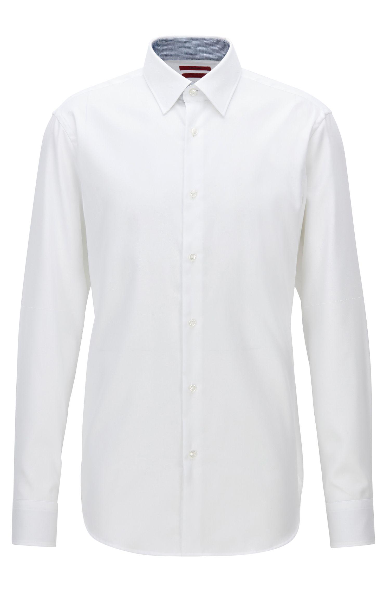 Camisa regular fit en popelín de algodón