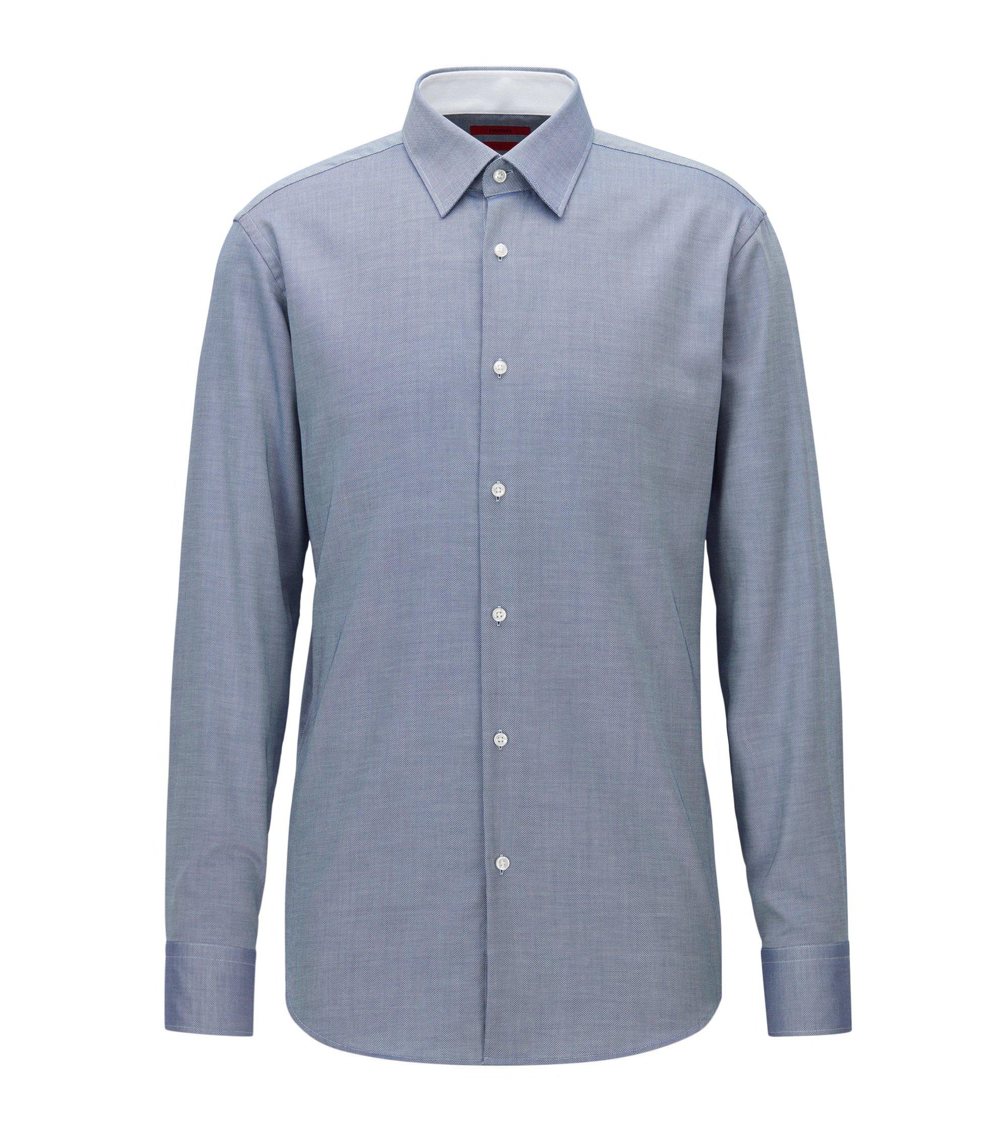 Camicia regular fit in popeline di cotone, Blu