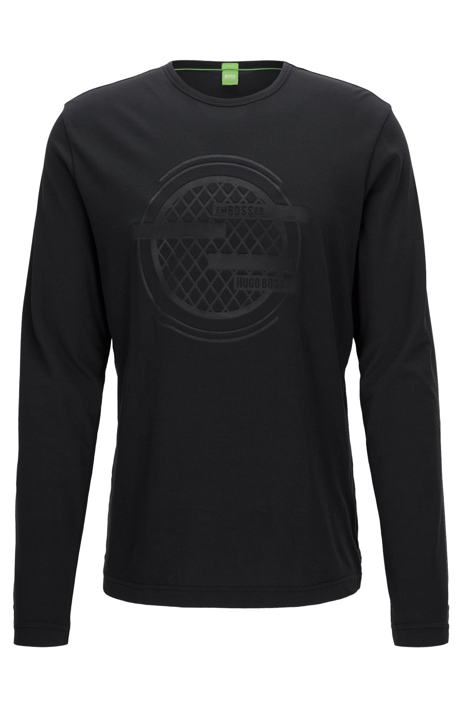 Long-sleeved T-shirt in a cotton mix