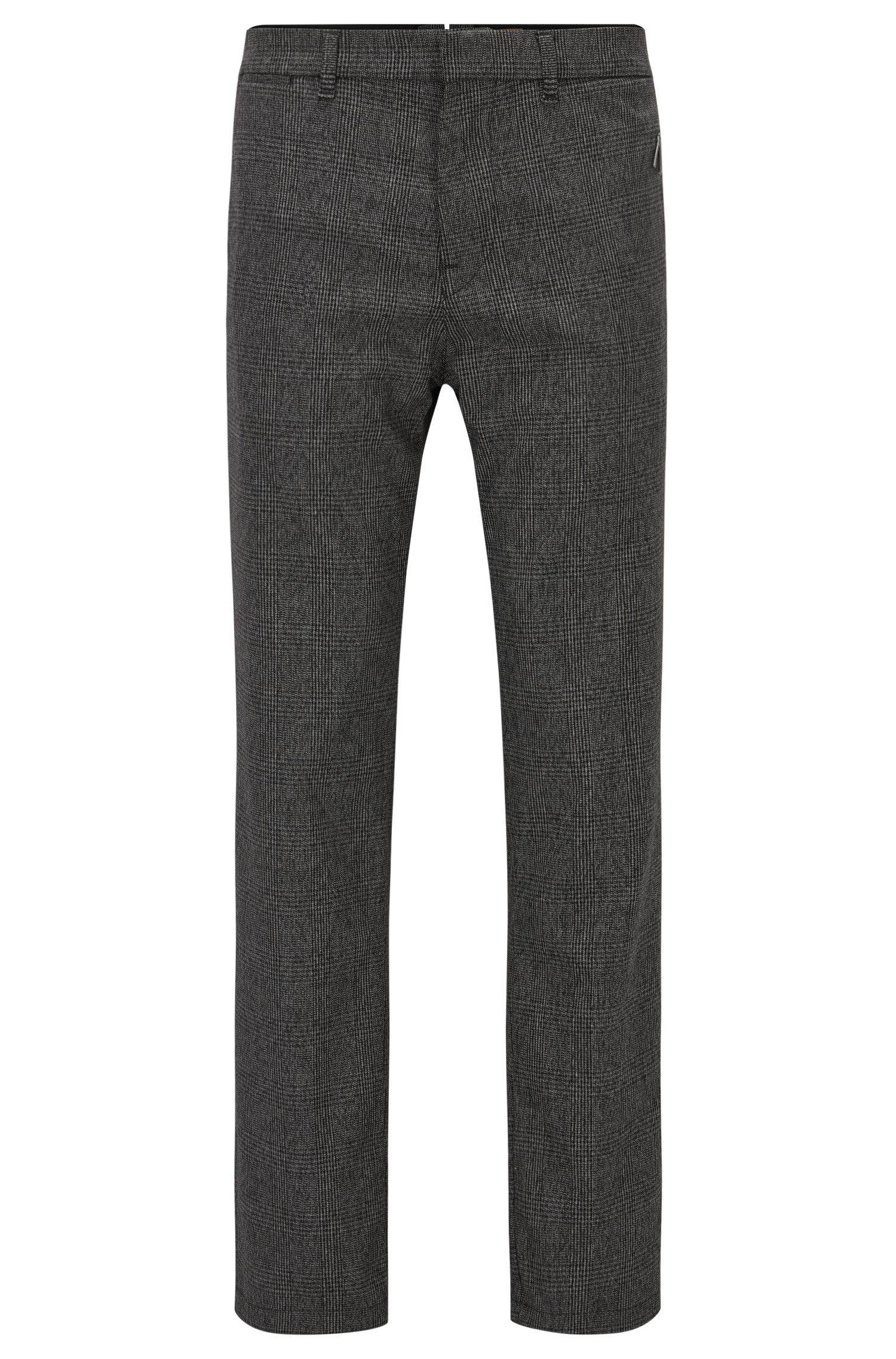 Pantaloni regular fit con motivo principe di Galles