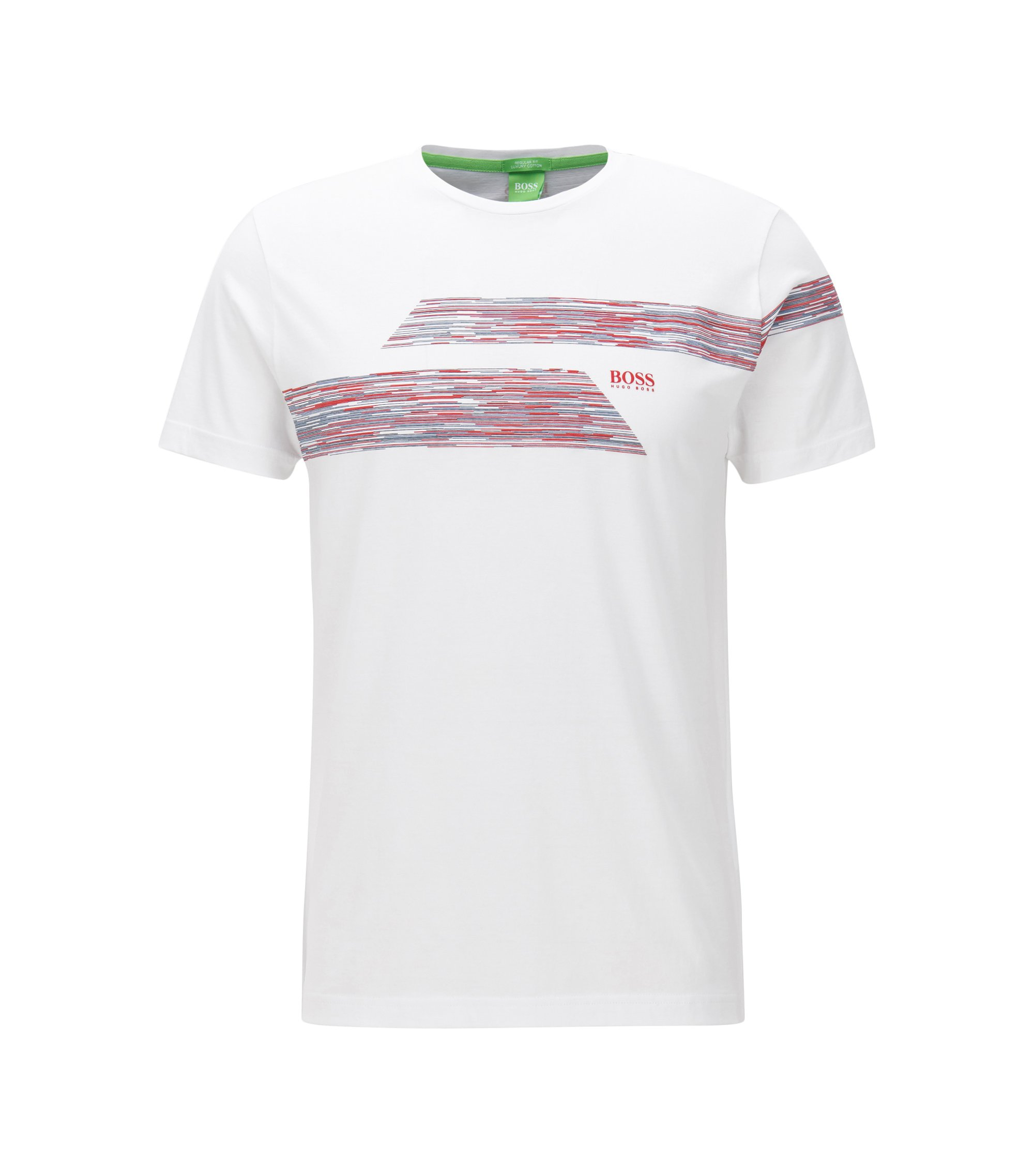 Regular-fit T-shirt in single jersey, White