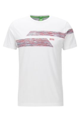 Regular-fit T-shirt van single jersey, Wit