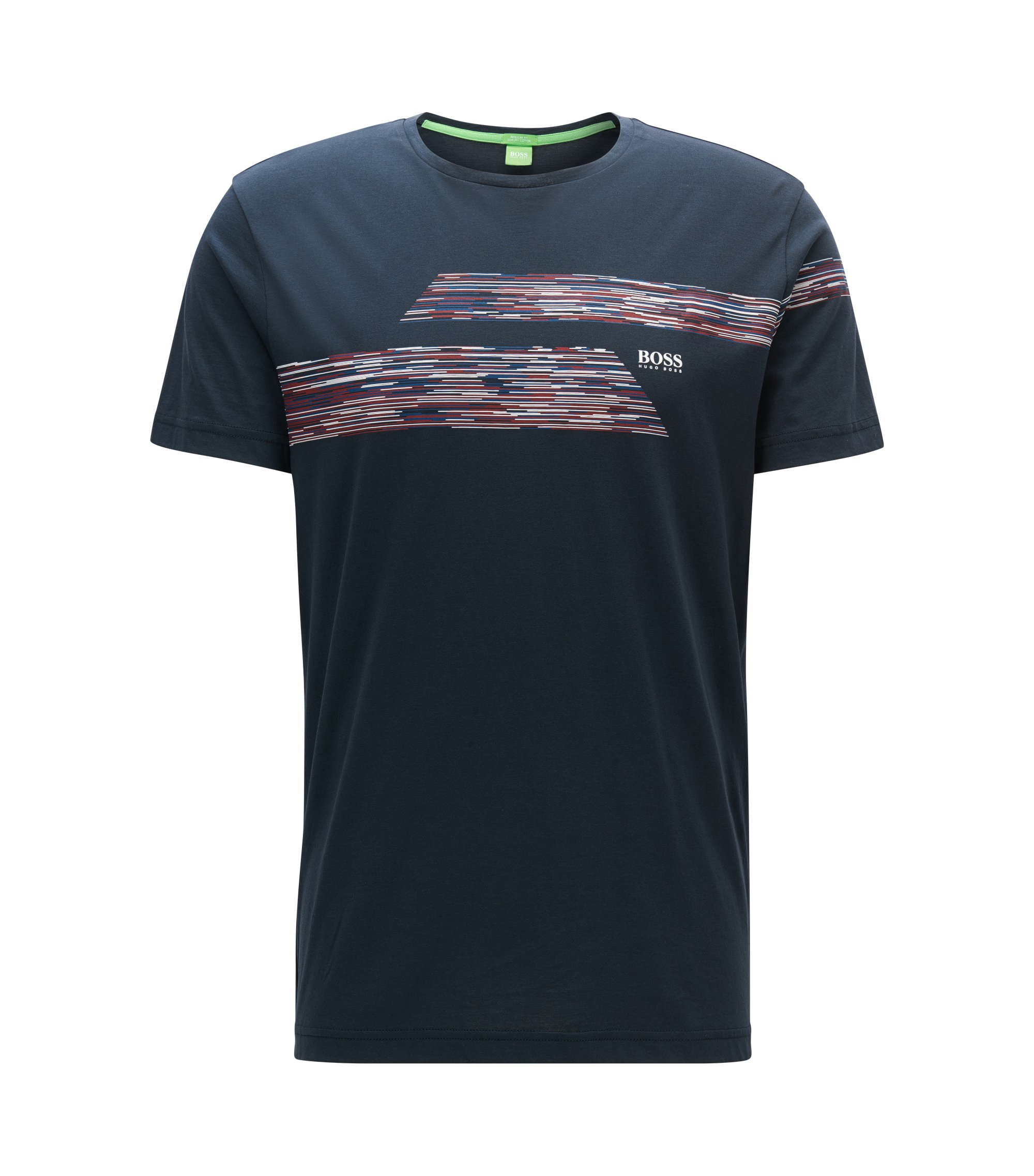 Regular-fit T-shirt van single jersey, Donkerblauw