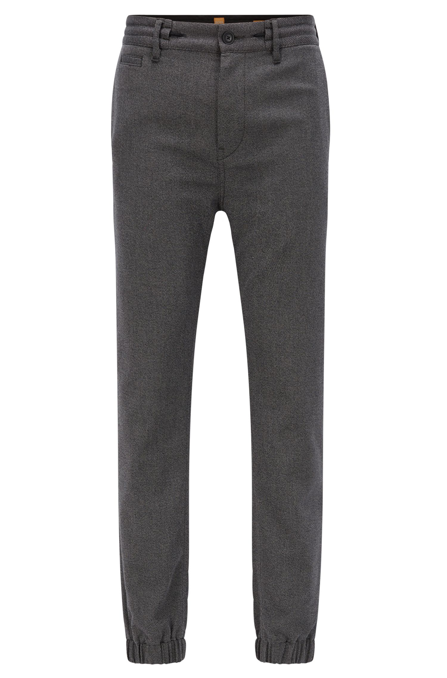 Tapered-fit trousers in stretch twill
