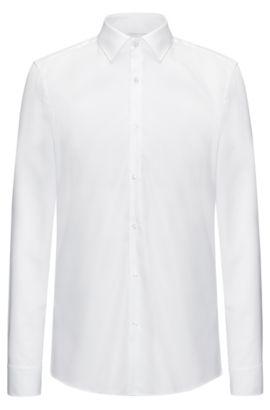 Chemise Slim Fit en coton doux, Blanc