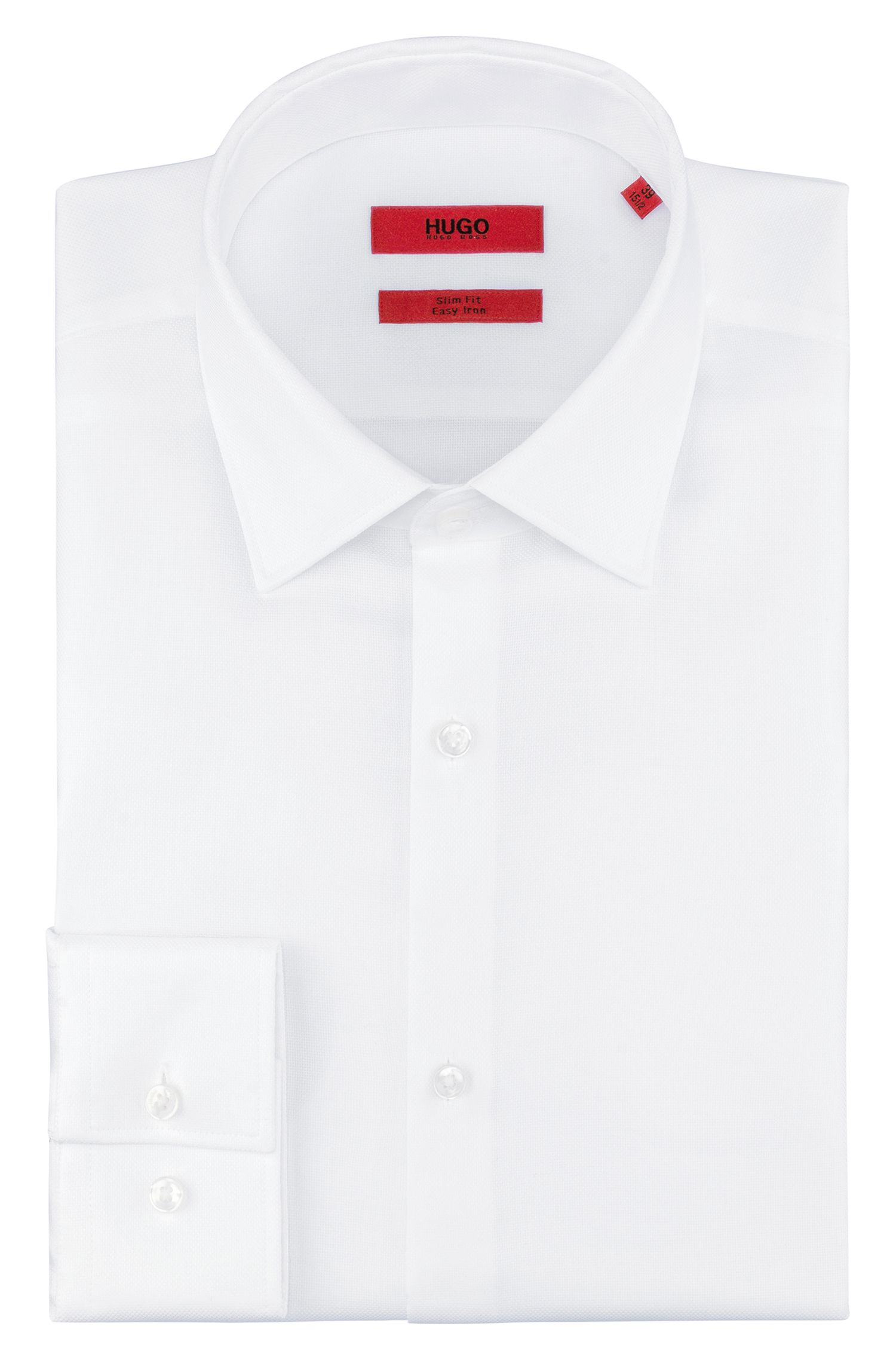 Camisa slim fit en suave algodón