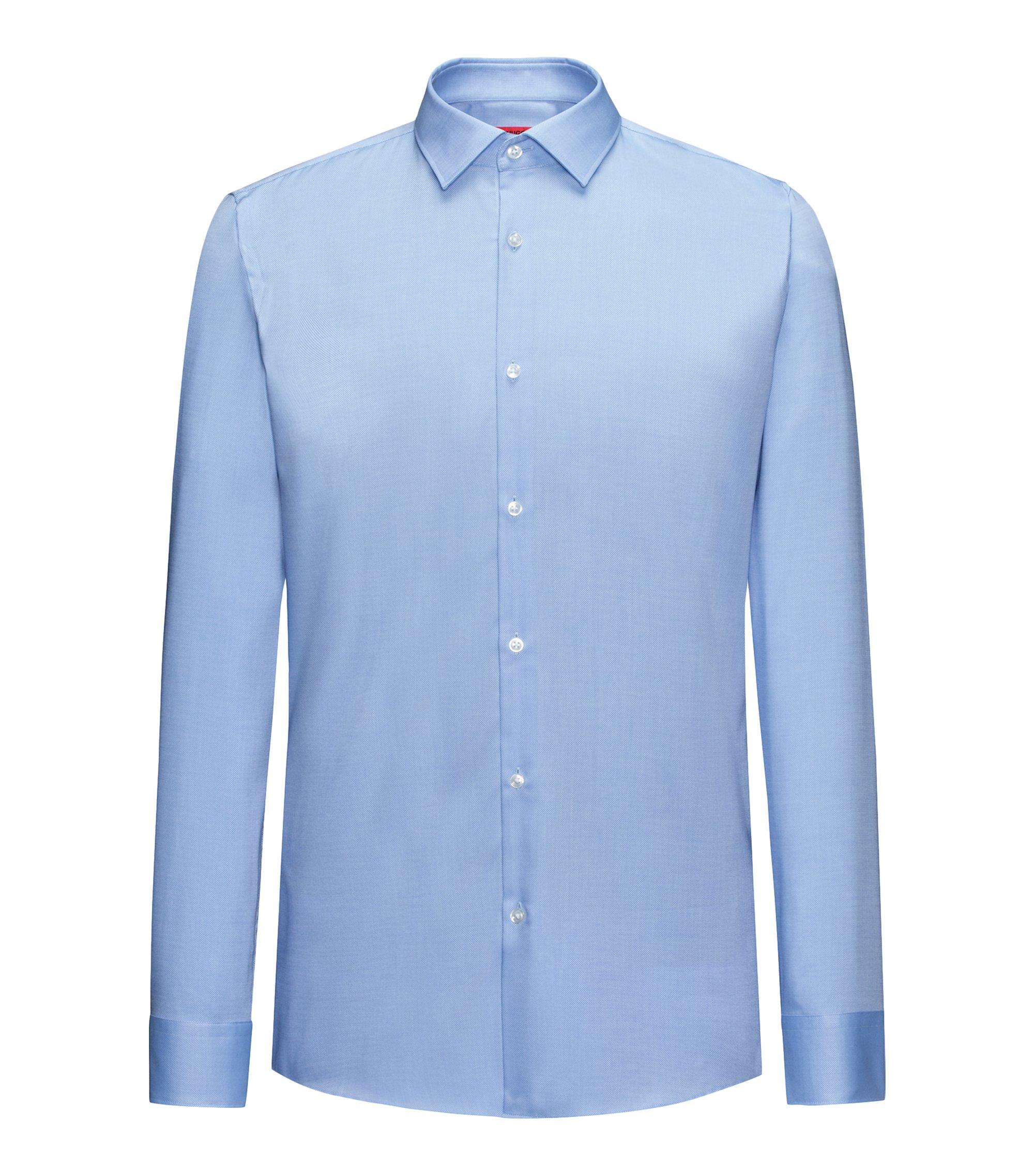 Slim-fit overhemd van zachte katoen, Lichtblauw