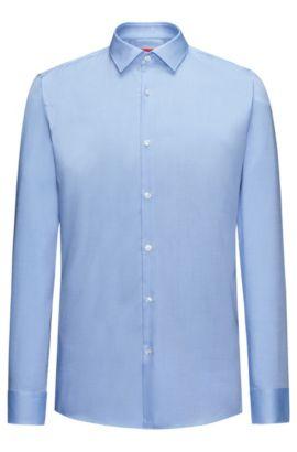 Slim-Fit Hemd aus softer Baumwolle, Hellblau