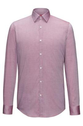 Slim-Fit Hemd aus softer Baumwolle, Dunkelrot