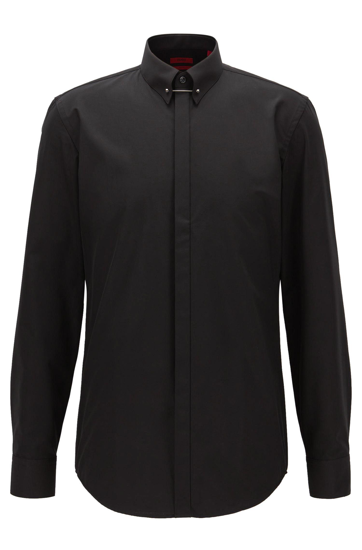 Slim-Fit Hemd aus Baumwolle mit Piccadilly-Kragen