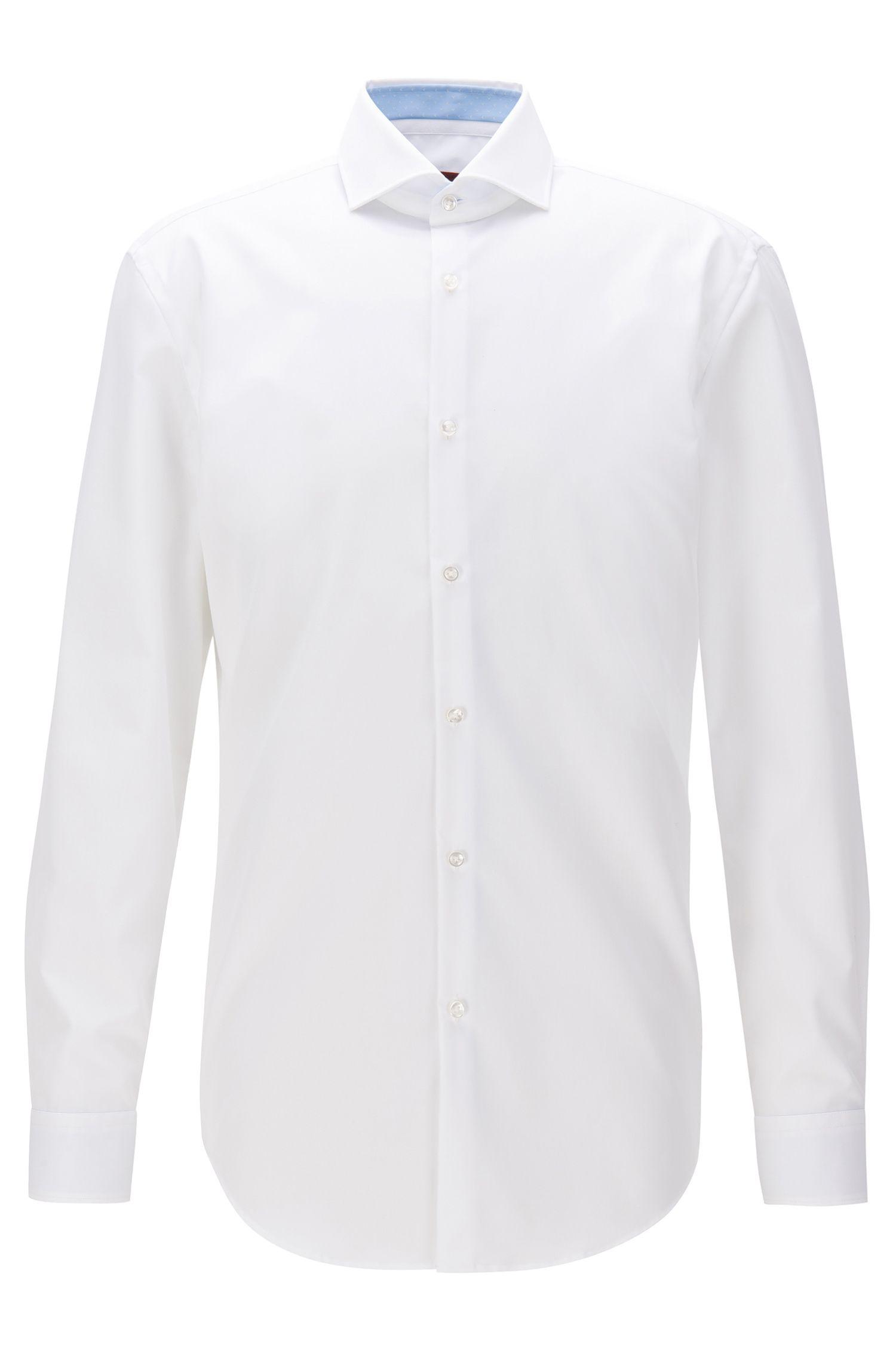 Slim-fit shirt in cotton poplin