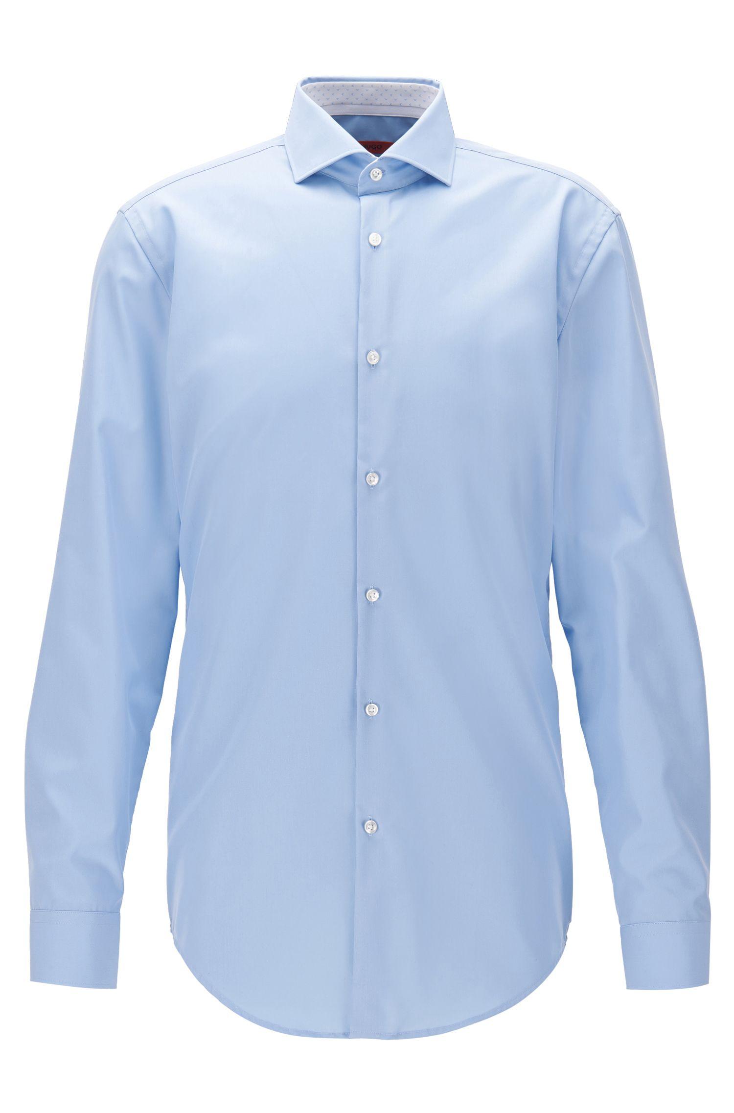 Camicia slim fit in popeline di cotone
