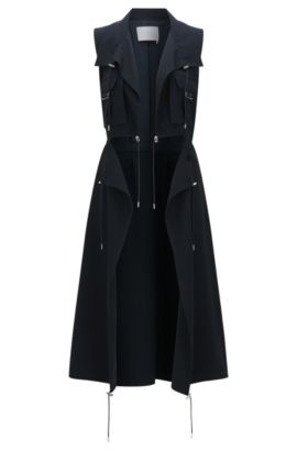 Runway Edition coat in material blend with viscose: 'FS_Canymea_C', Open Blue