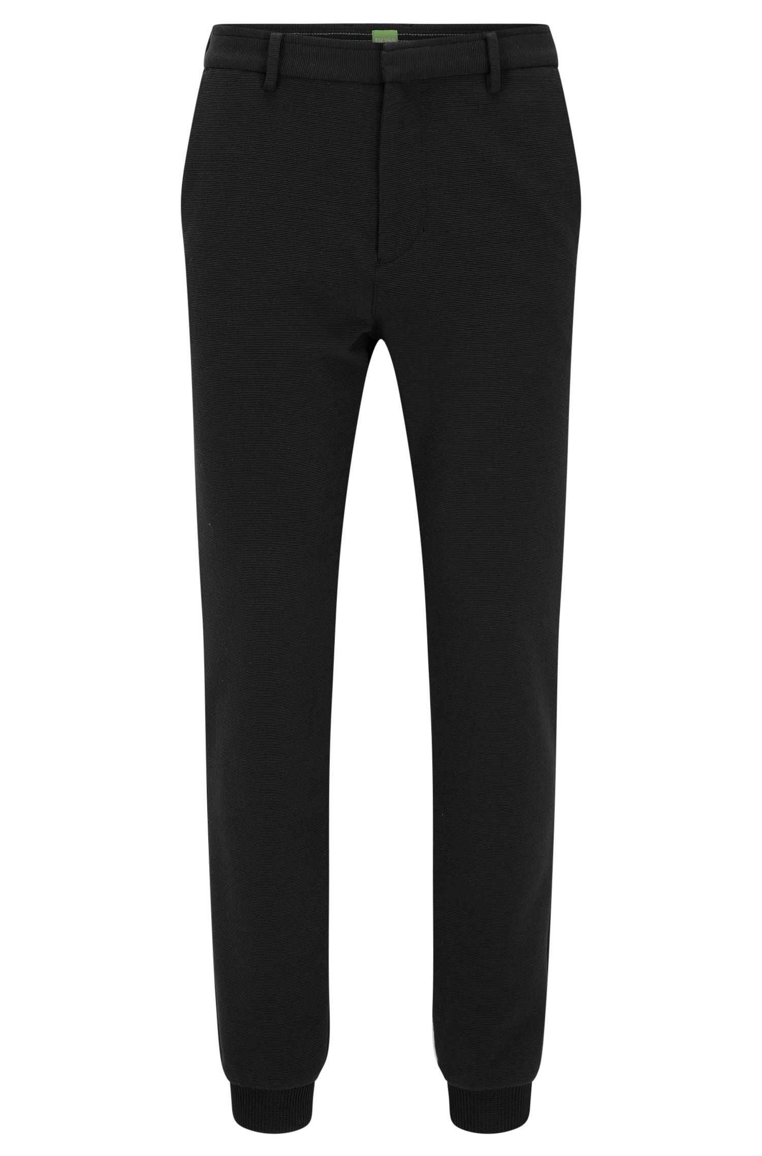 Slim-fit trousers in structured Italian jersey
