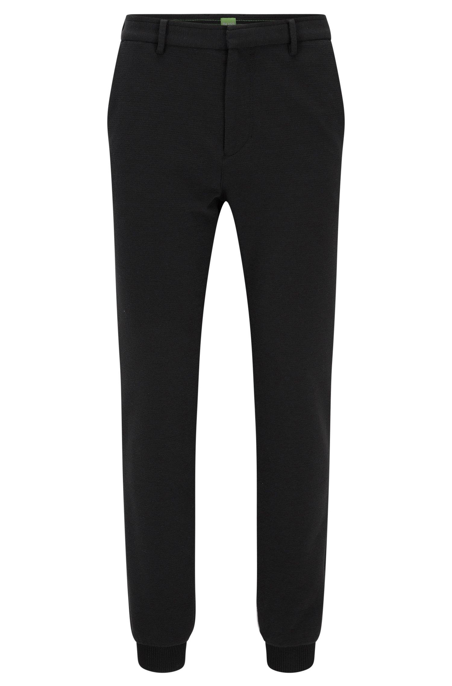 Pantalón slim fit en punto italiano con textura