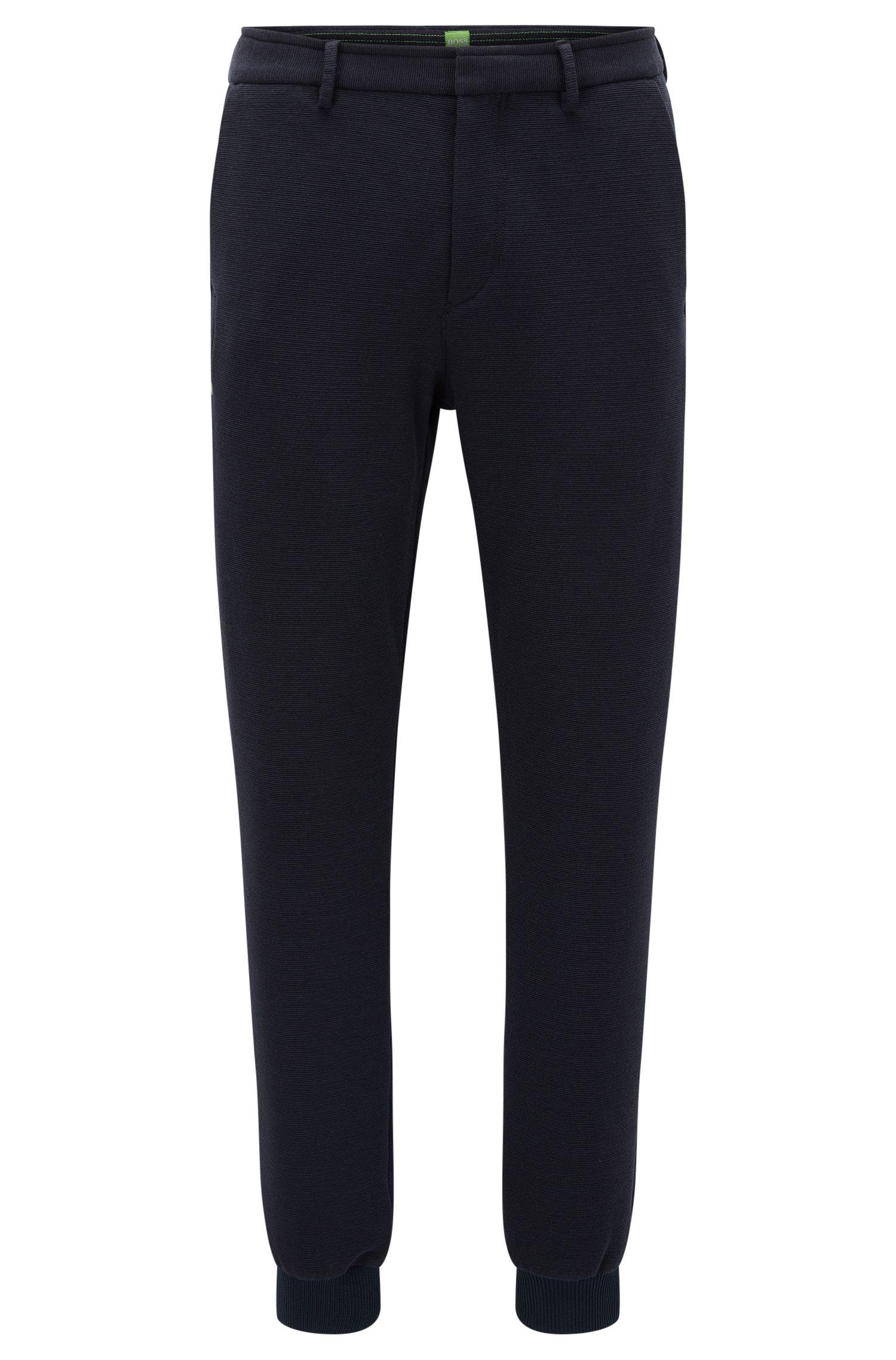 Pantalon Slim Fit en jersey italien structuré