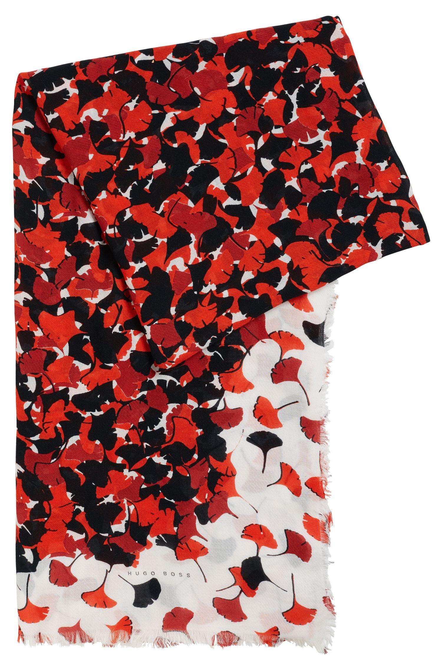 Print-Schal aus Baumwoll-Mix mit Modal