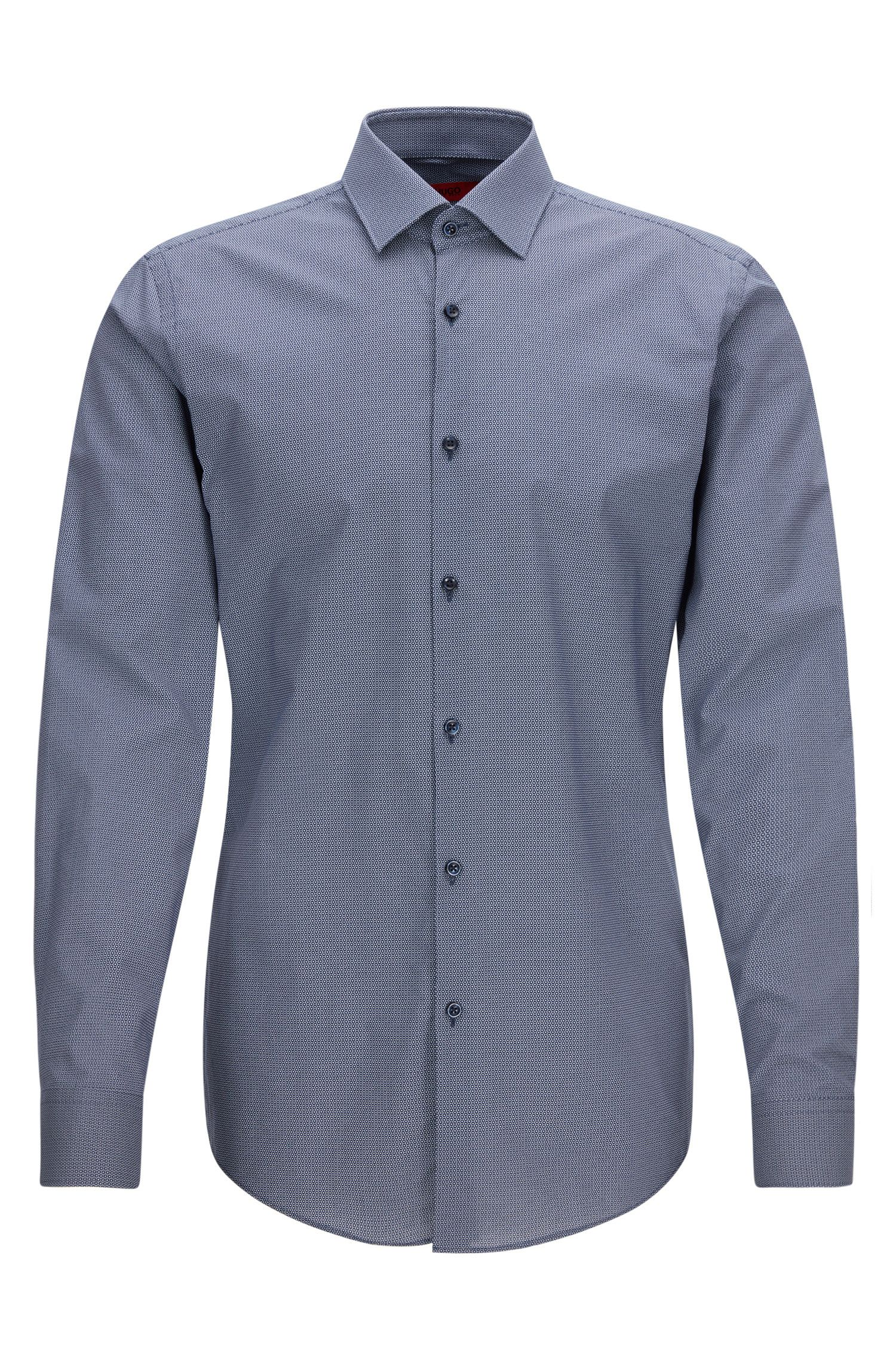 Slim-fit overhemd van katoen met print