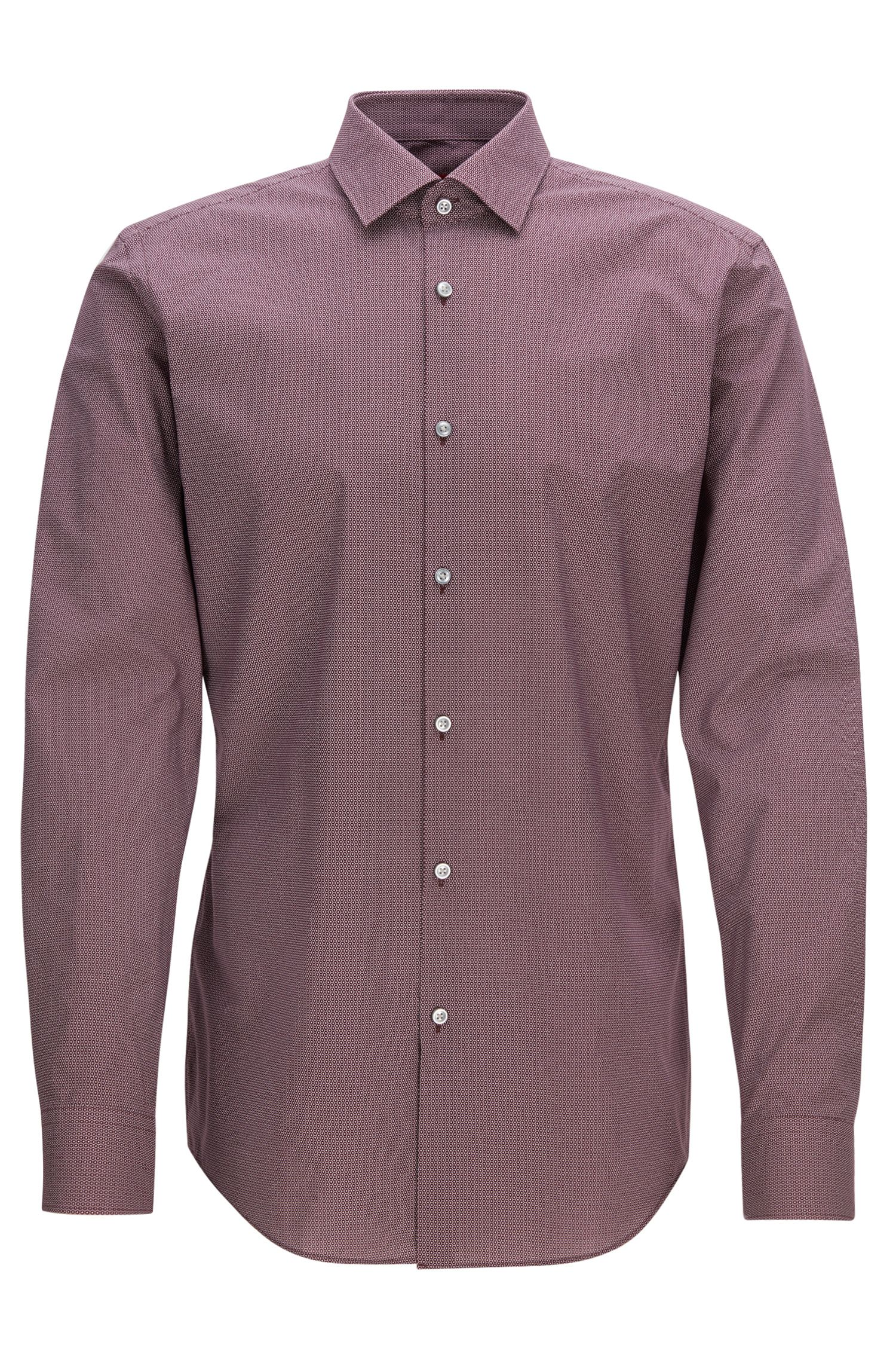 Slim-fit shirt in printed cotton