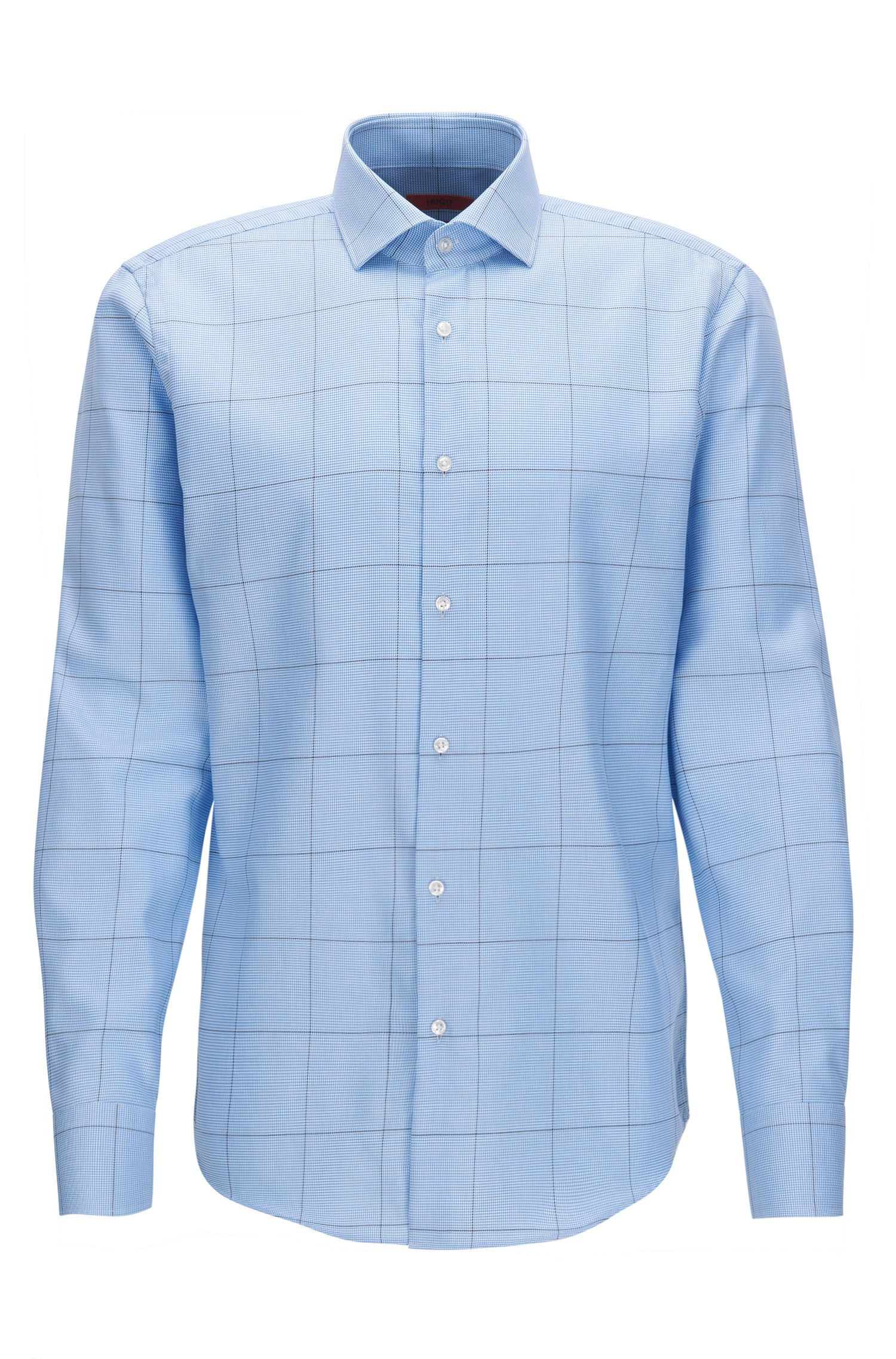 Camicia regular fit in popeline di cotone a quadri