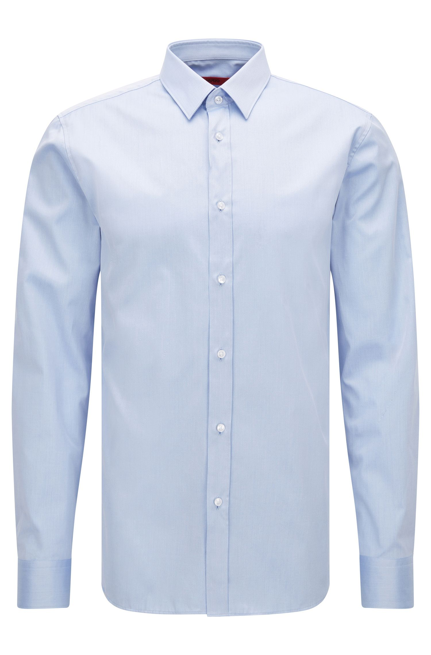 Slim-fit shirt in cotton twill