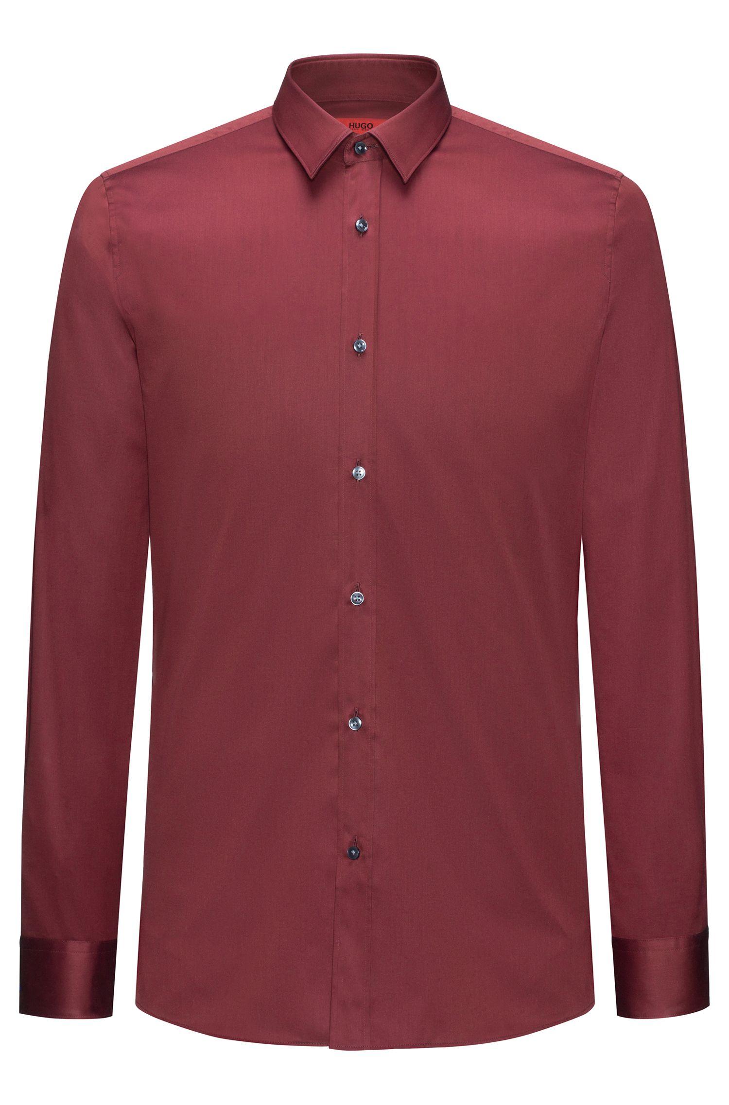 Extra slim-fit overhemd in een katoentwill