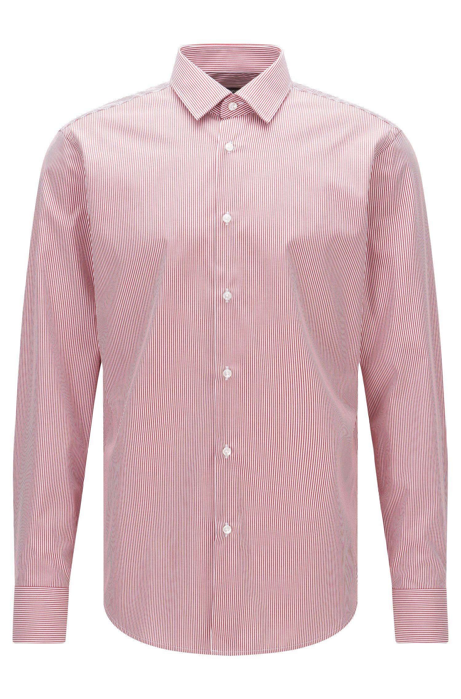 Regular-Fit Hemd aus Baumwoll-Popeline mit Streifen