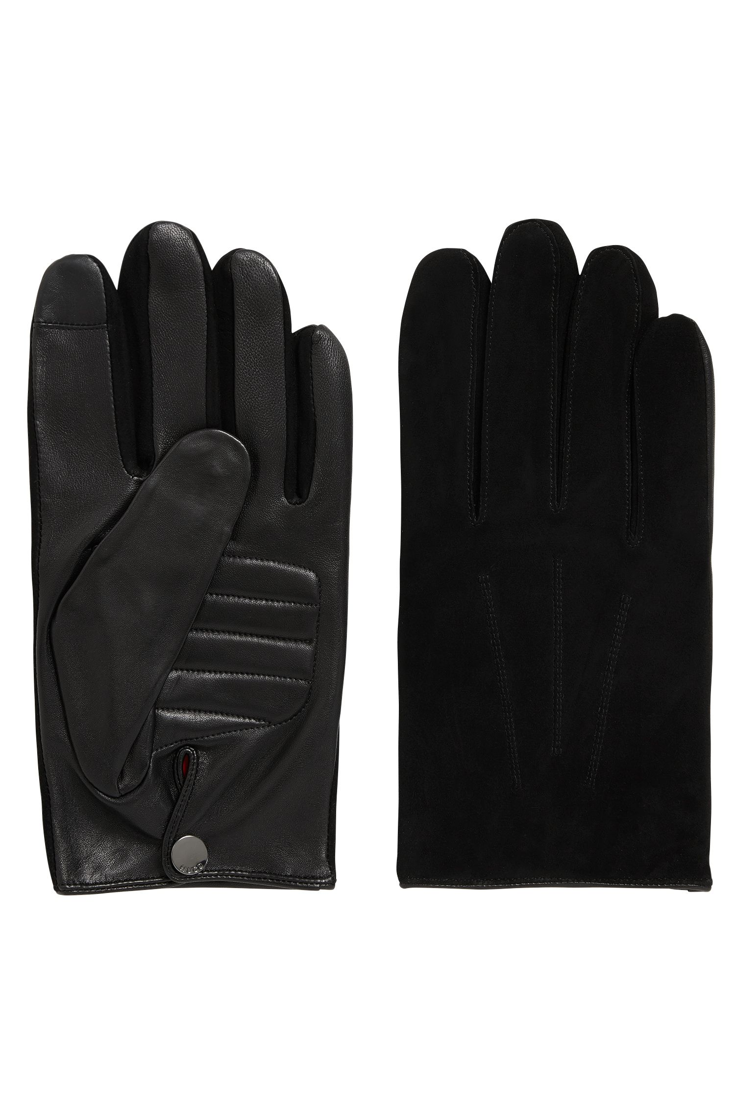 Cashmere-lined nappa leather gloves with touchscreen function