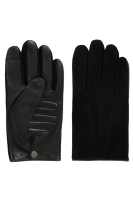 Cashmere-lined nappa leather gloves with touchscreen function, Black