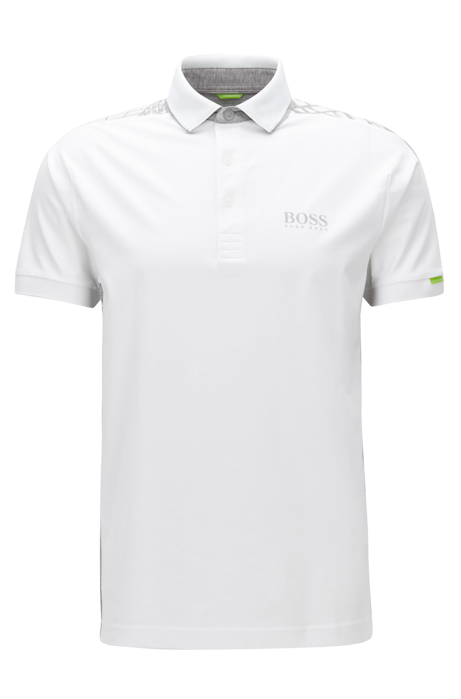Regular-fit polo shirt in stretch cotton