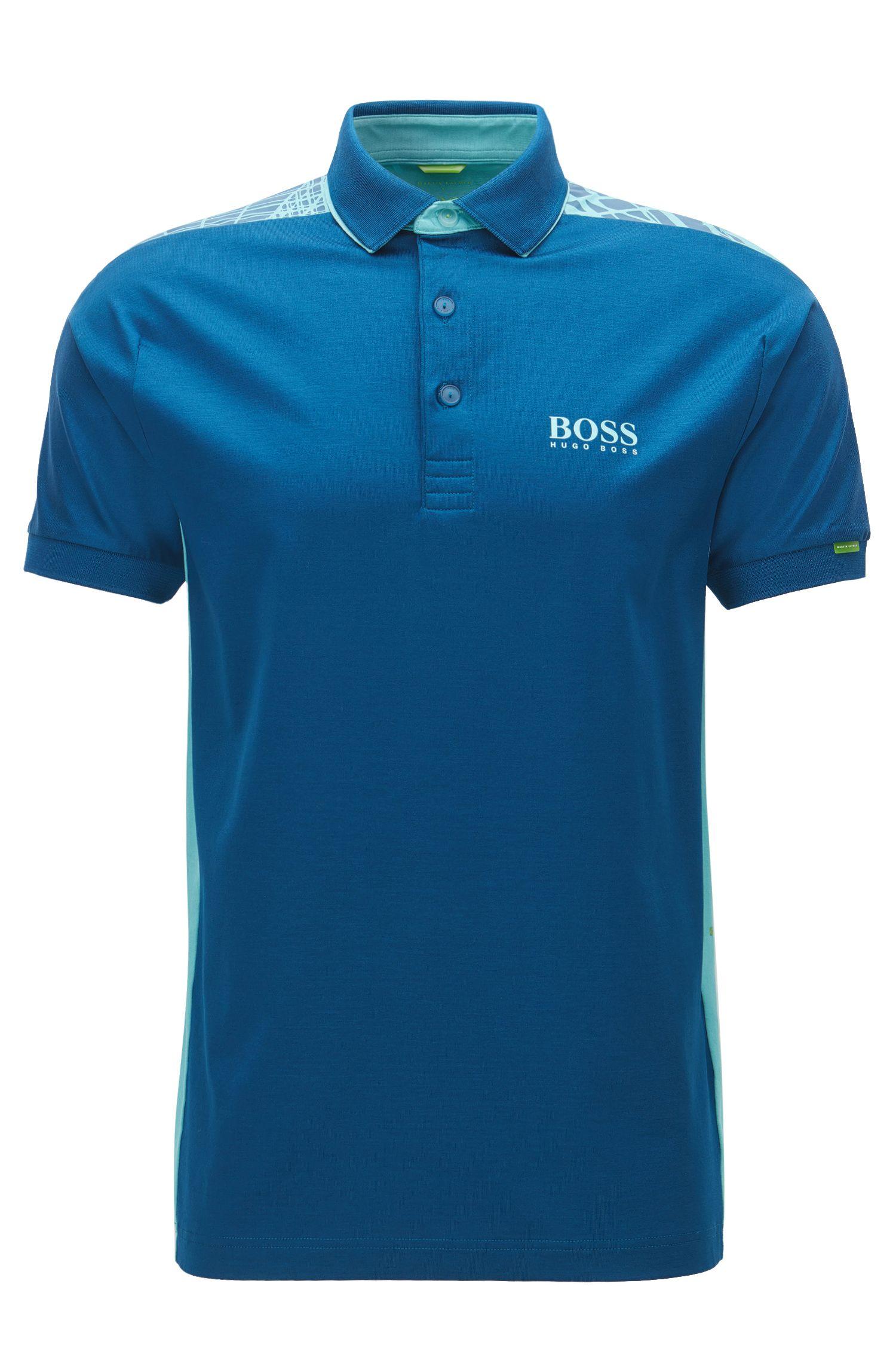 Regular-Fit-Poloshirt aus Stretch-Baumwolle