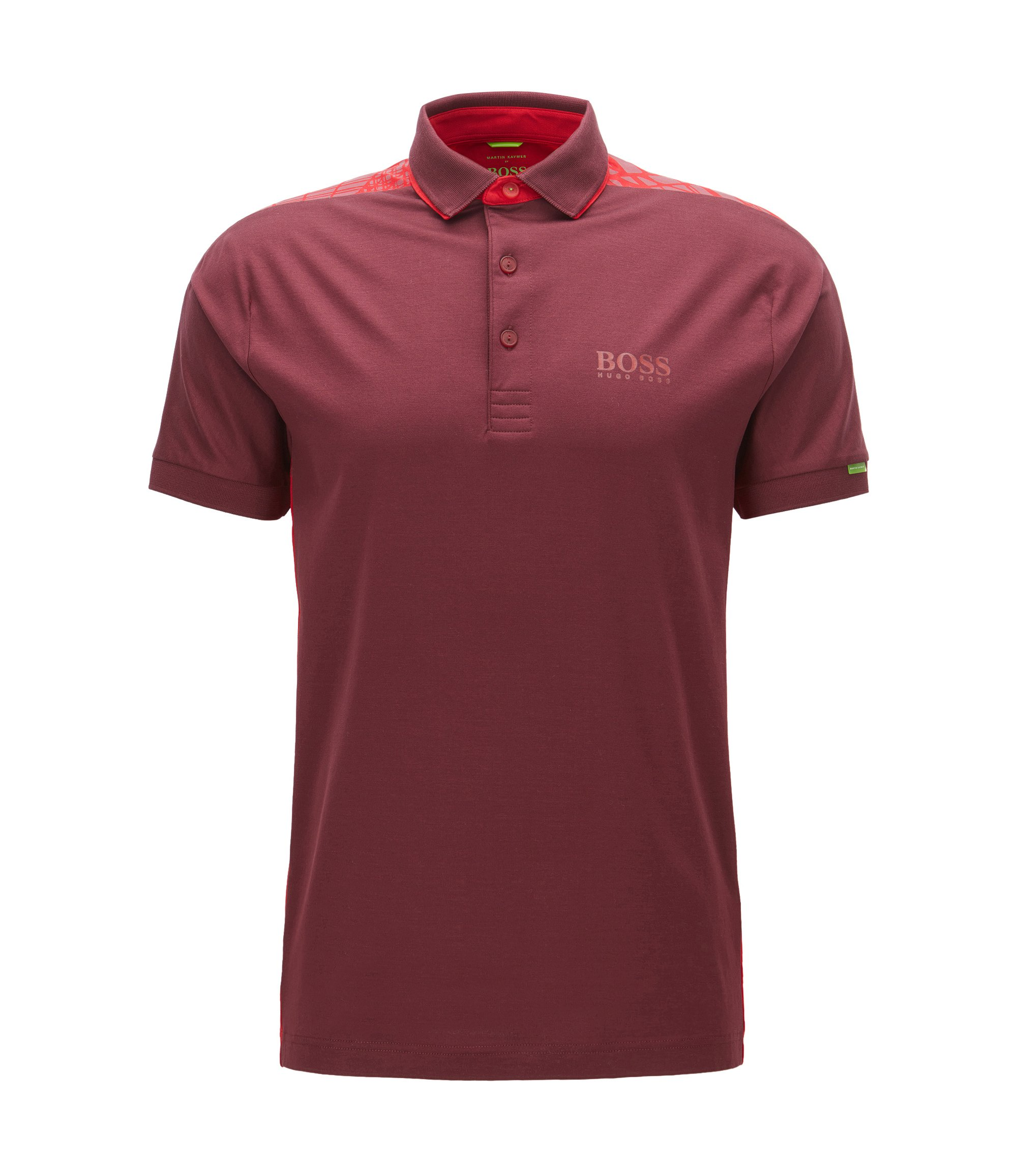 Polo Regular Fit en coton stretch, Rouge