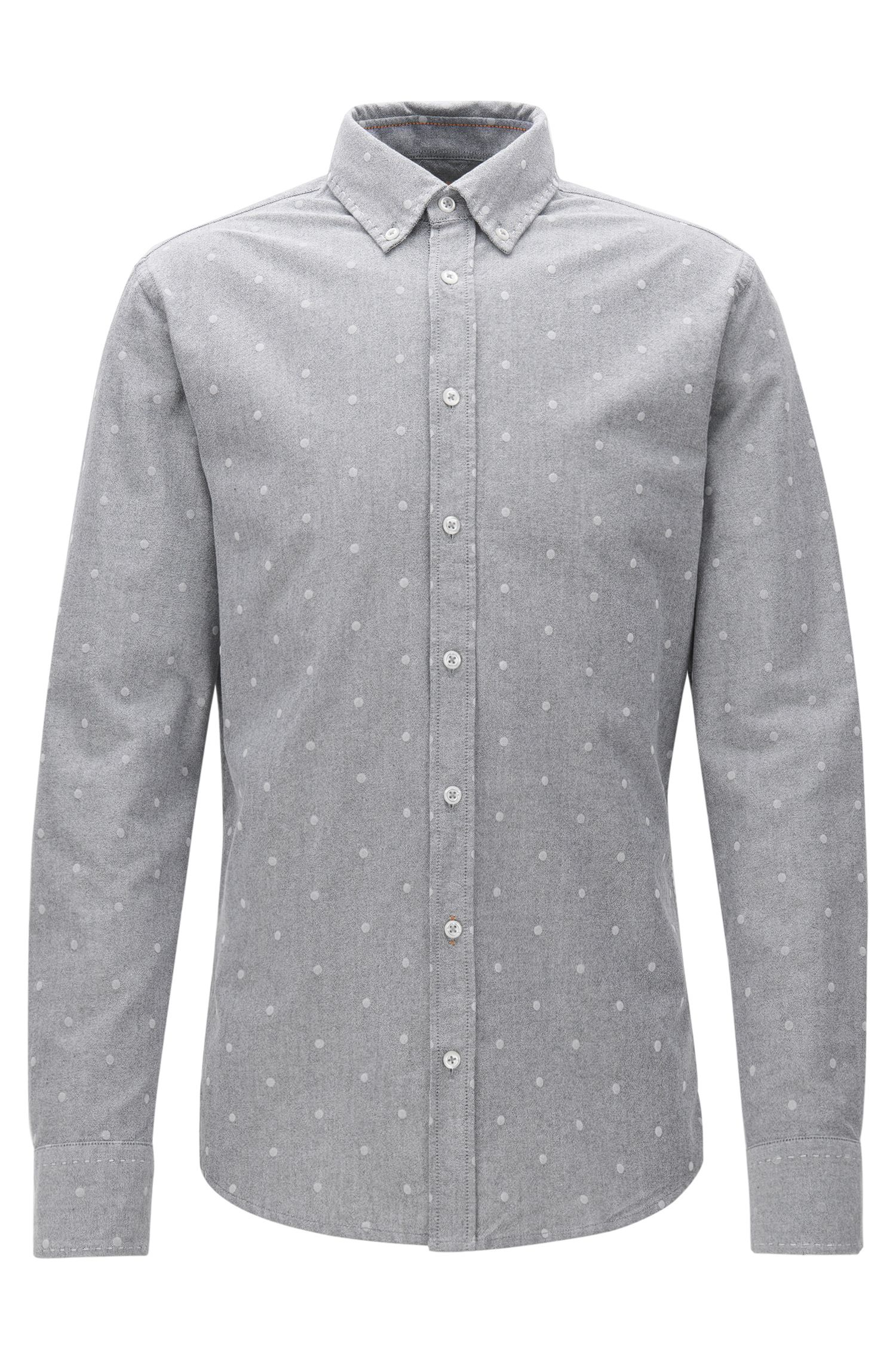 Slim-fit shirt in panama cotton