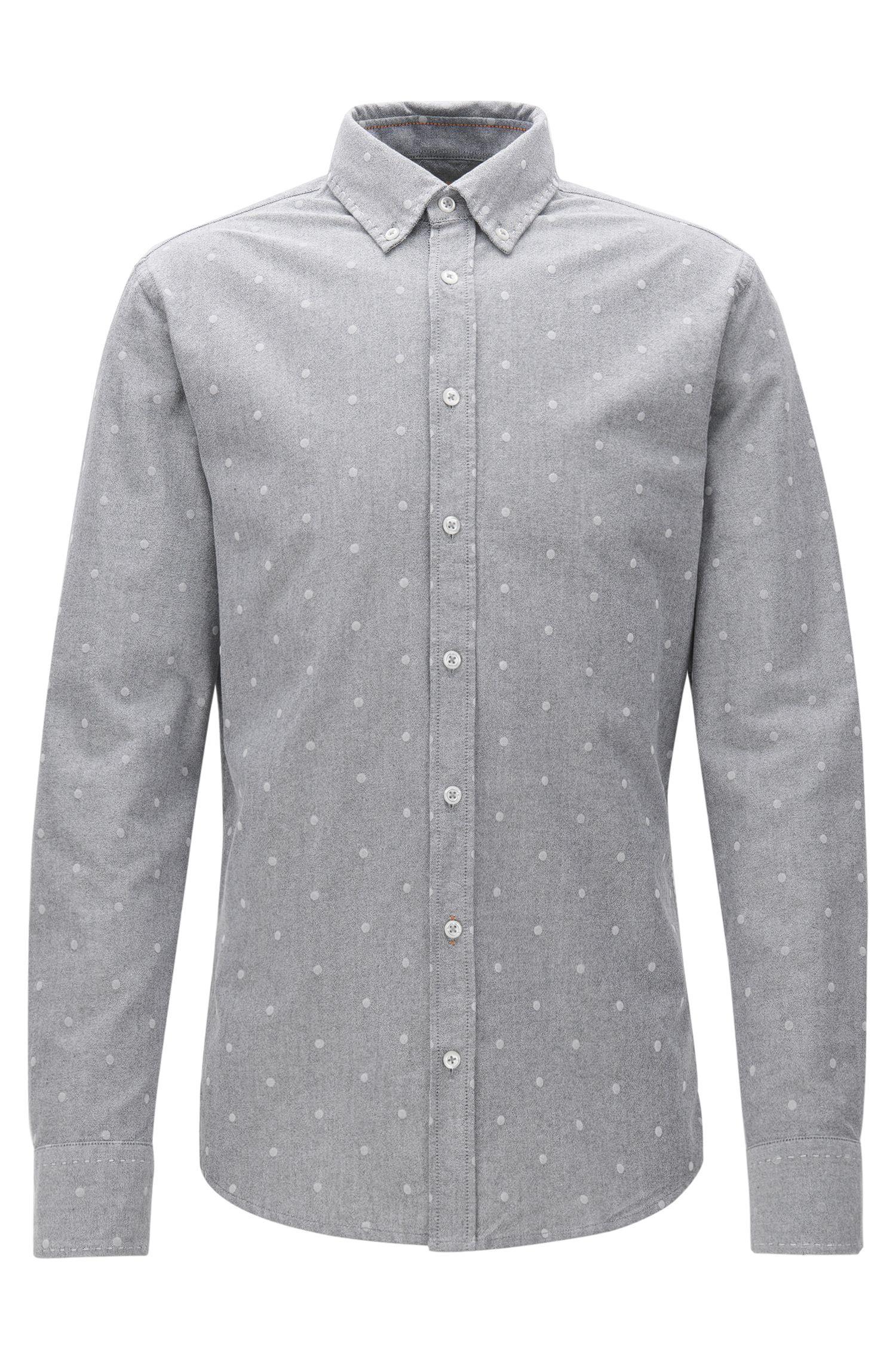 Slim-fit overhemd van panamakatoen