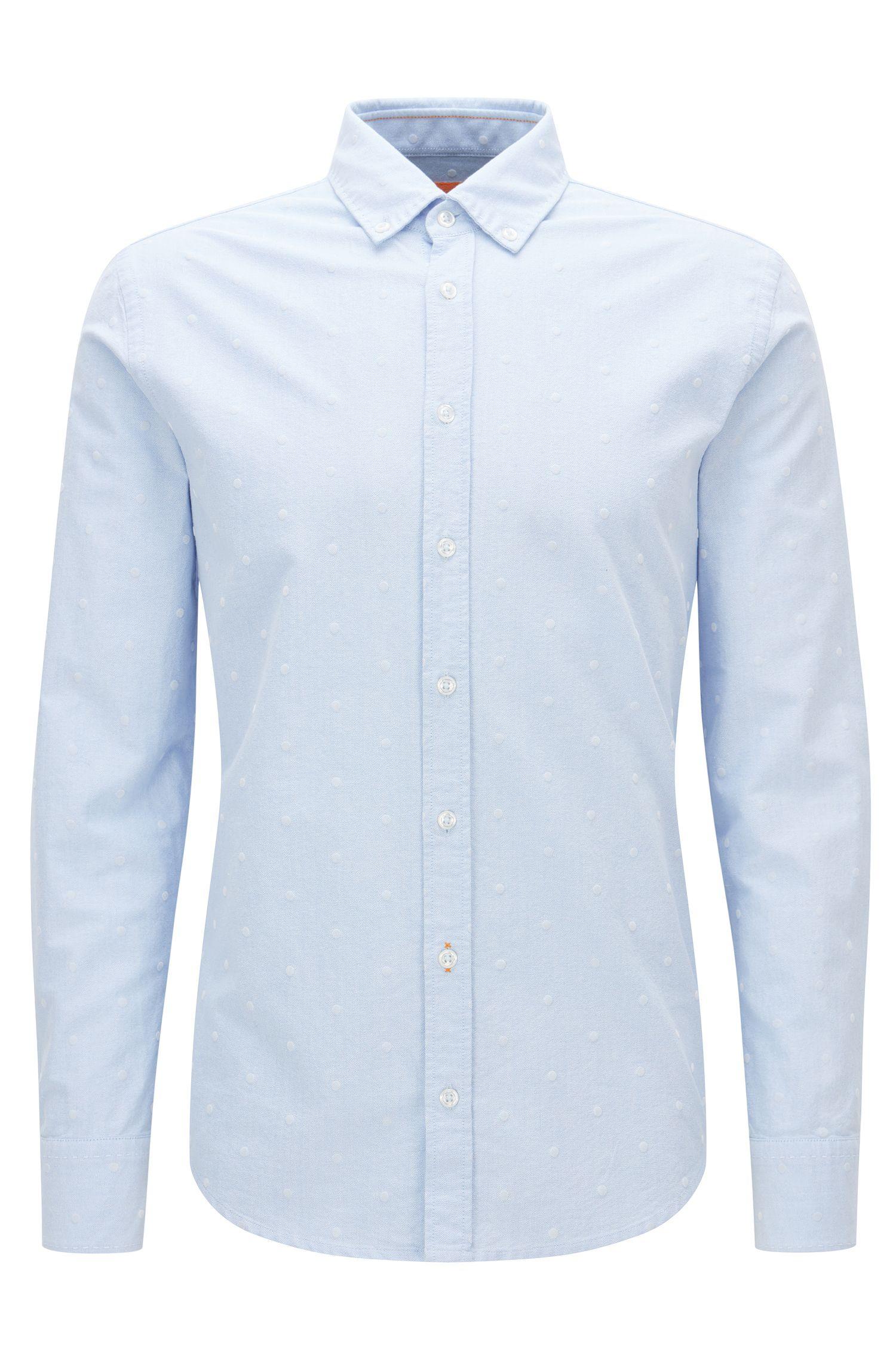Slim-Fit-Hemd aus Panama-Baumwolle