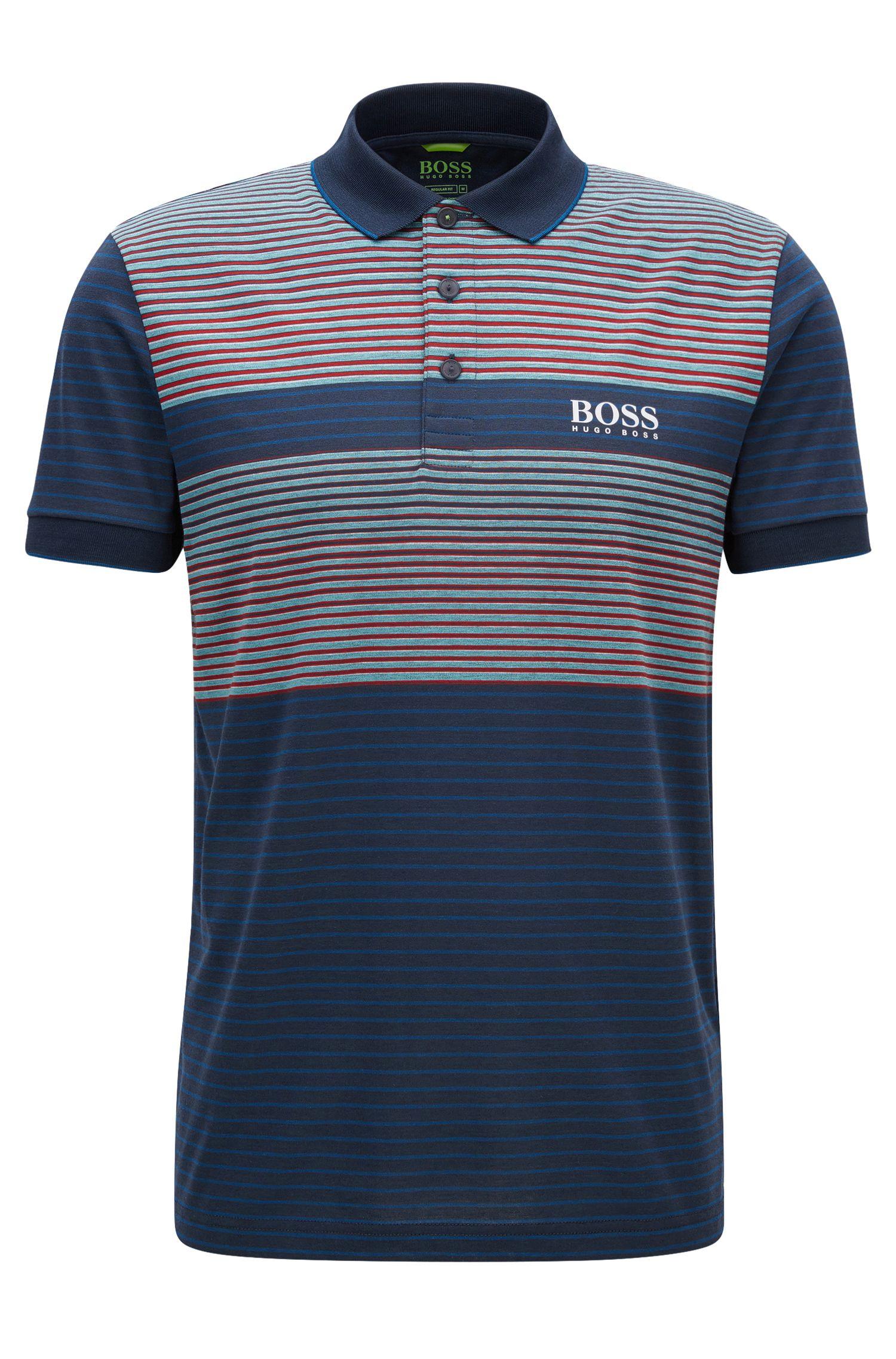 Regular-Fit Poloshirt aus merzerisiertem Baumwoll-Mix