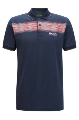 Regular-Fit-Poloshirt aus Baumwoll-Mix, Dunkelblau
