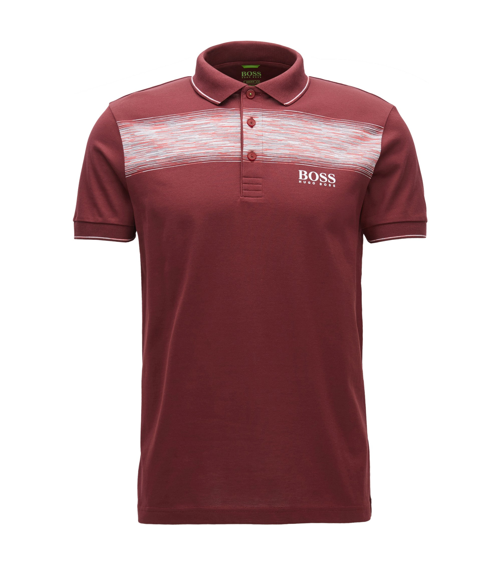 Polo Regular Fit en coton mélangé, Rouge sombre