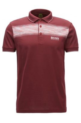 Polo regular fit in misto cotone, Rosso scuro