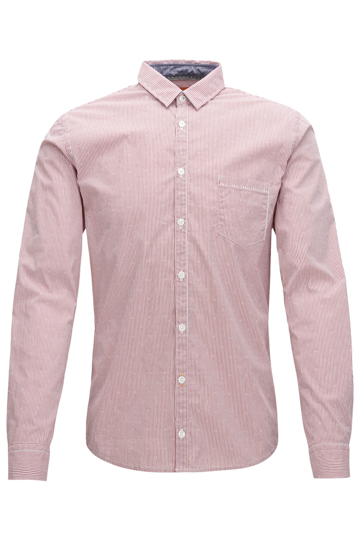 Chemise Extra Slim Fit à rayures en dobby stretch