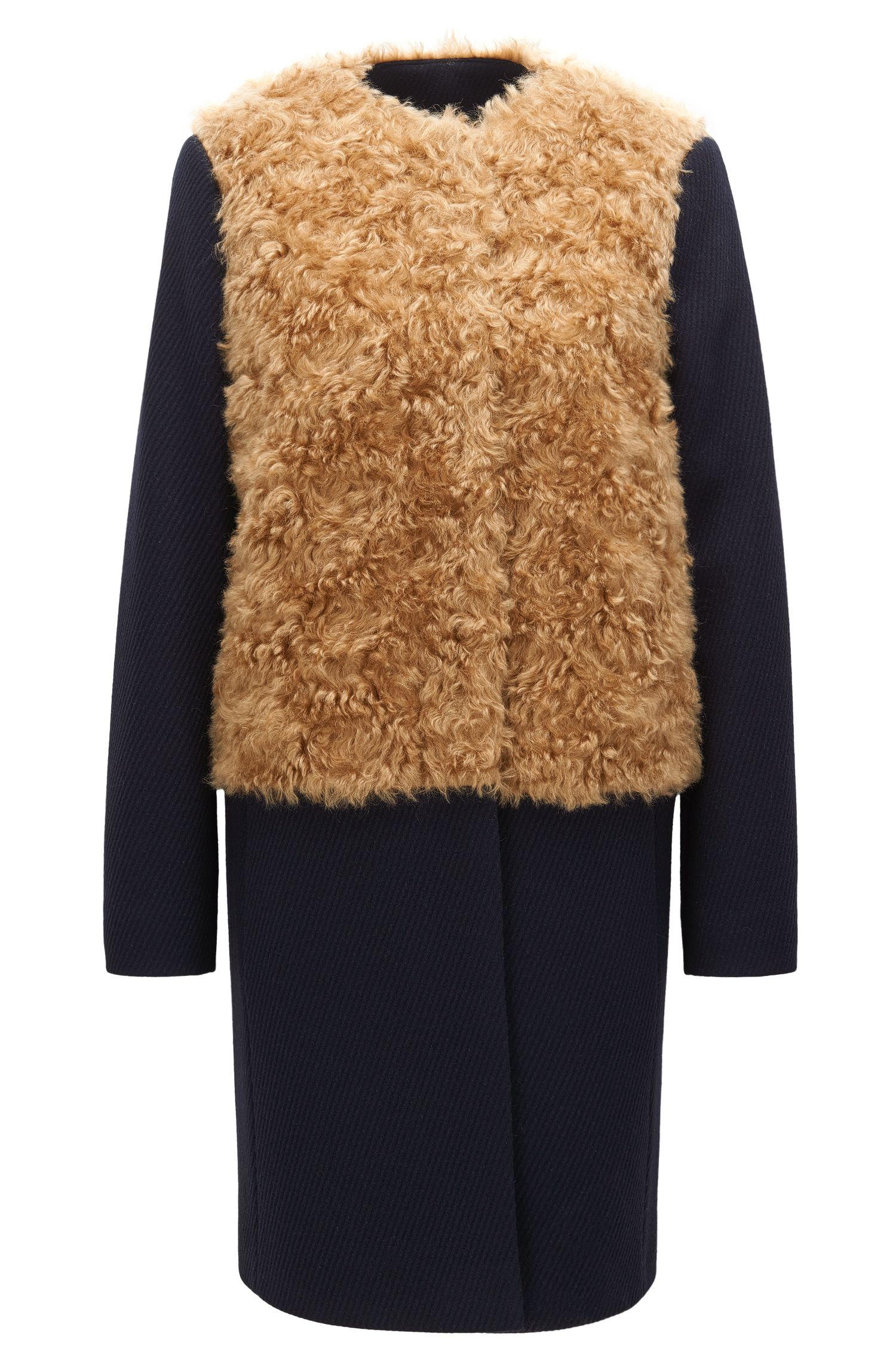 Statement relaxed-fit coat in a wool mix