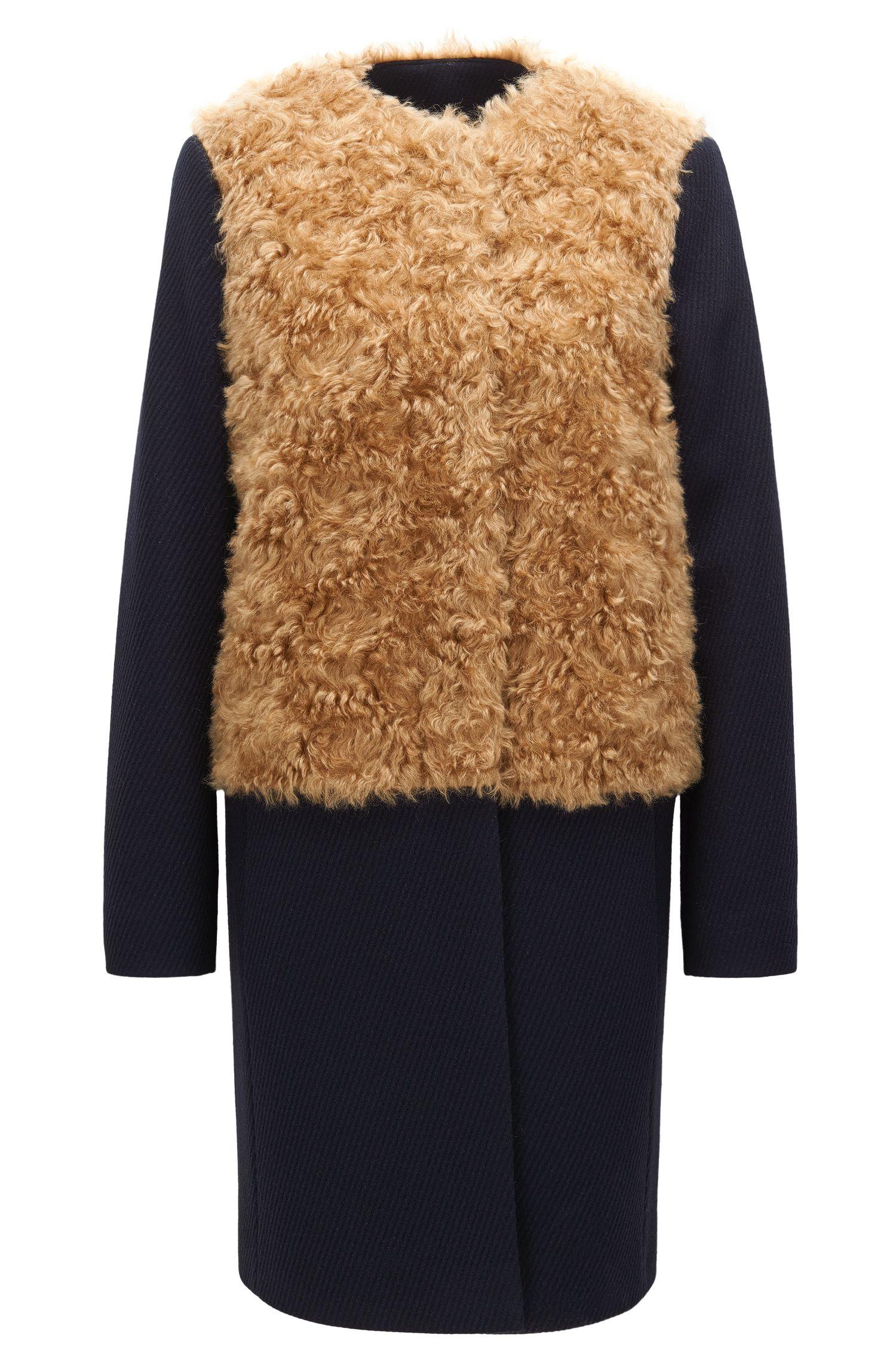 Opvallende relaxed-fit mantel van een wolmix