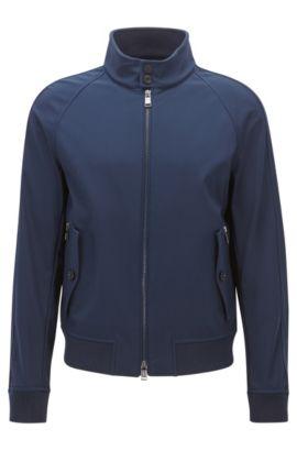 Relaxed-Fit-Jacke aus wasserabweisendem Material-Mix, Dunkelblau