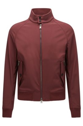 Relaxed-fit jacket in water-repellent fabric, Dark Red