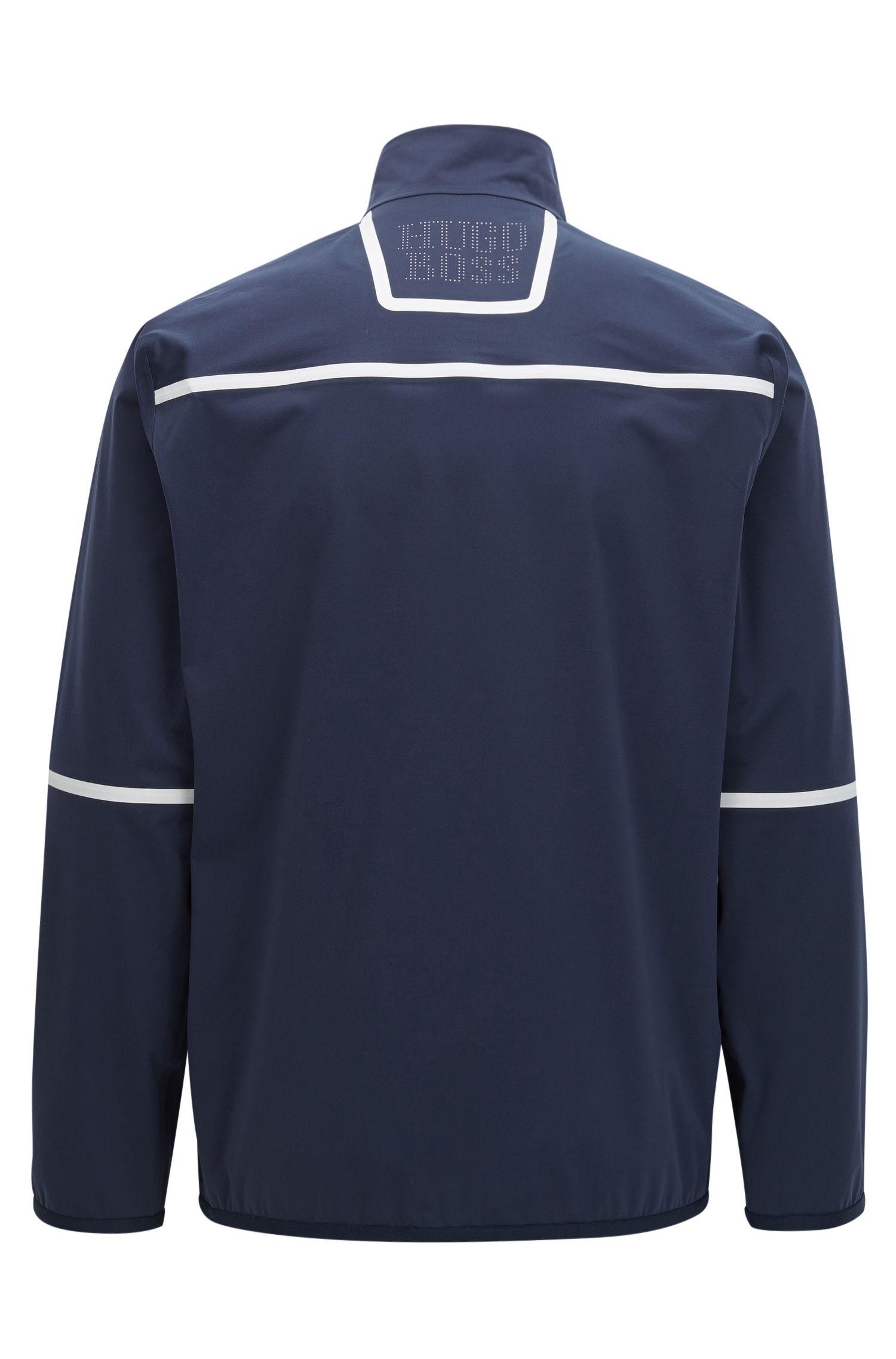 Veste zippée en tissu S.Café® , Bleu foncé