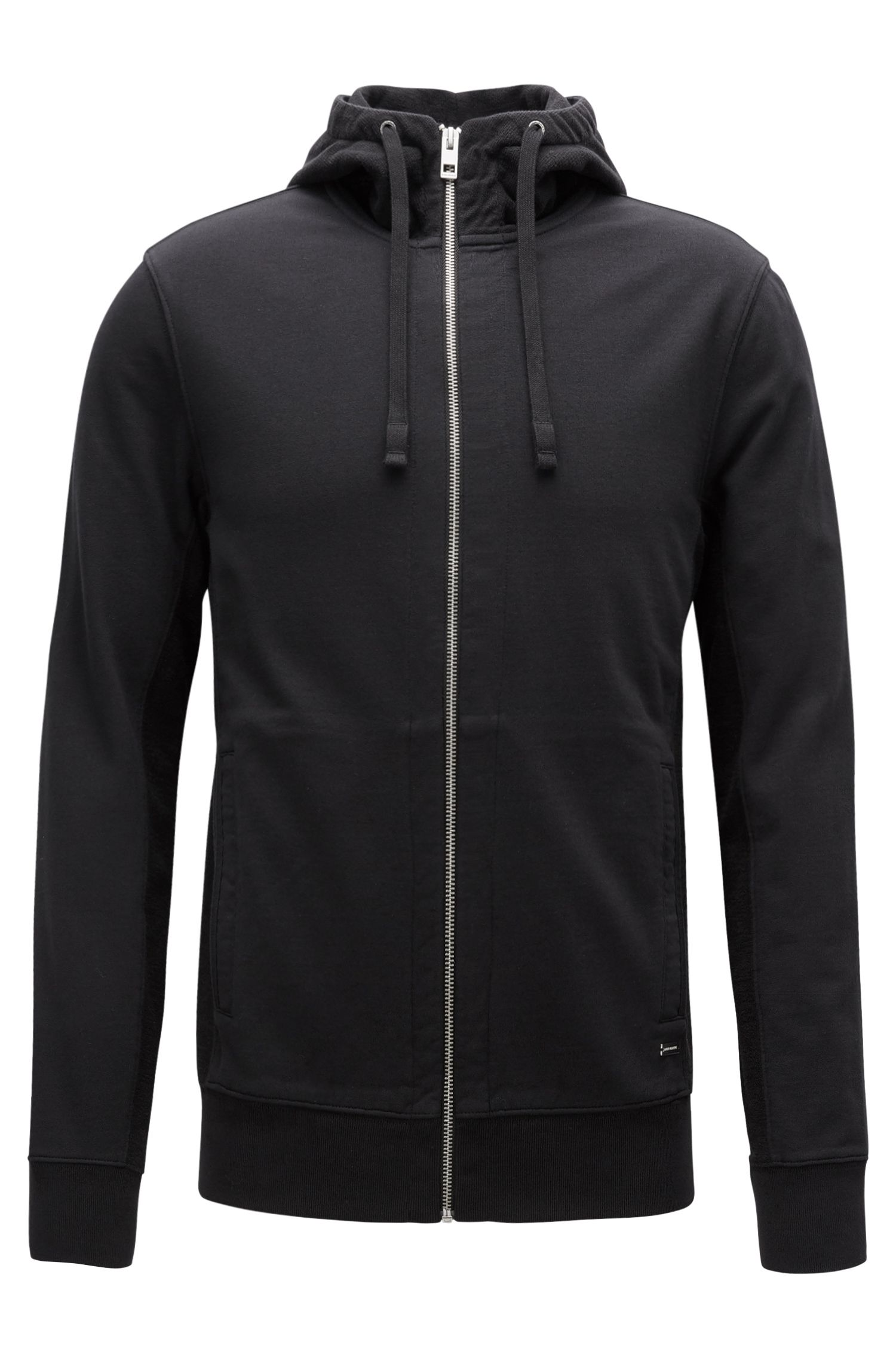 Slim-Fit Kapuzenjacke aus French Terry