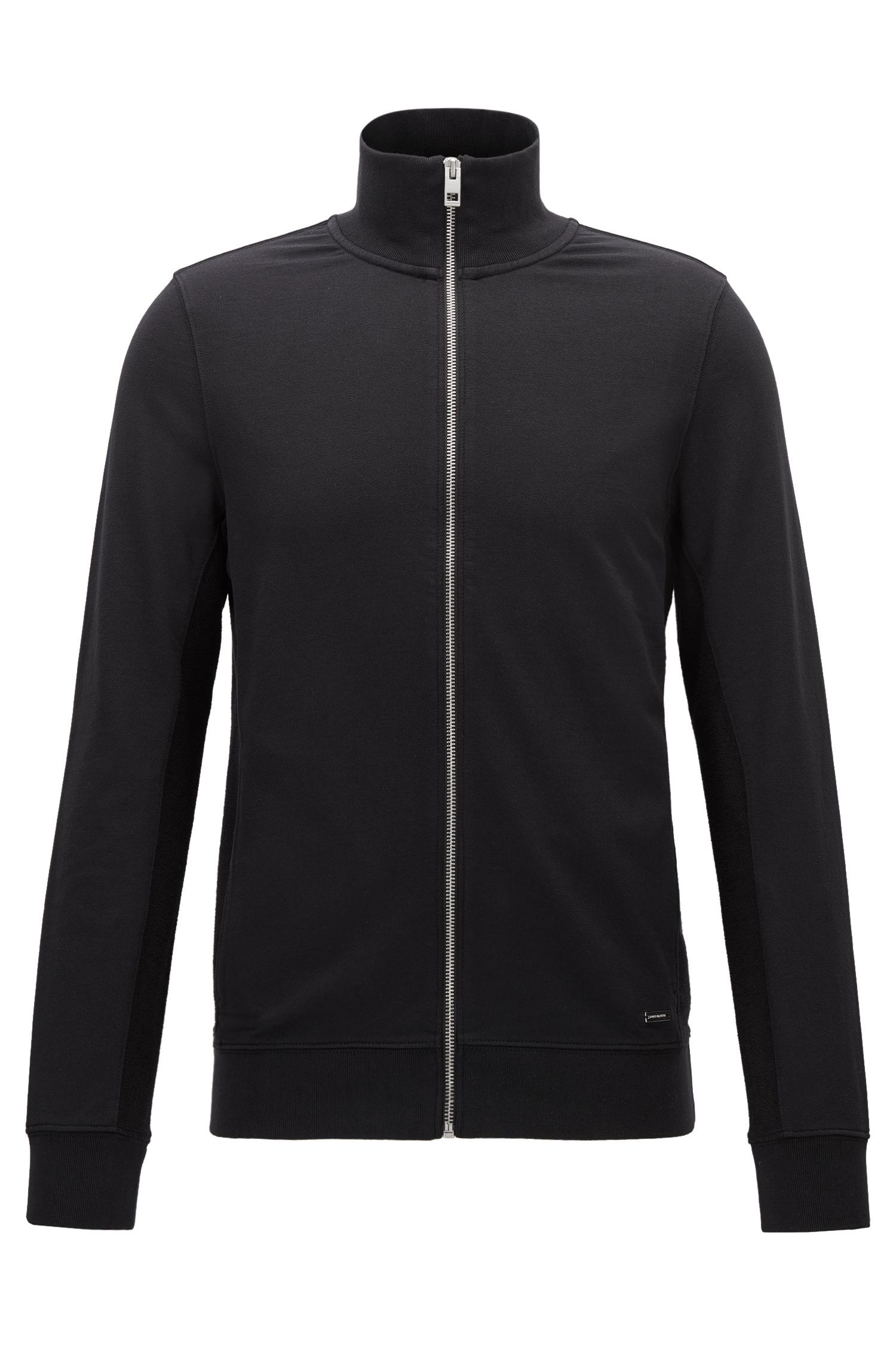 Slim-Fit-Sweatjacke aus Baumwoll-Mix