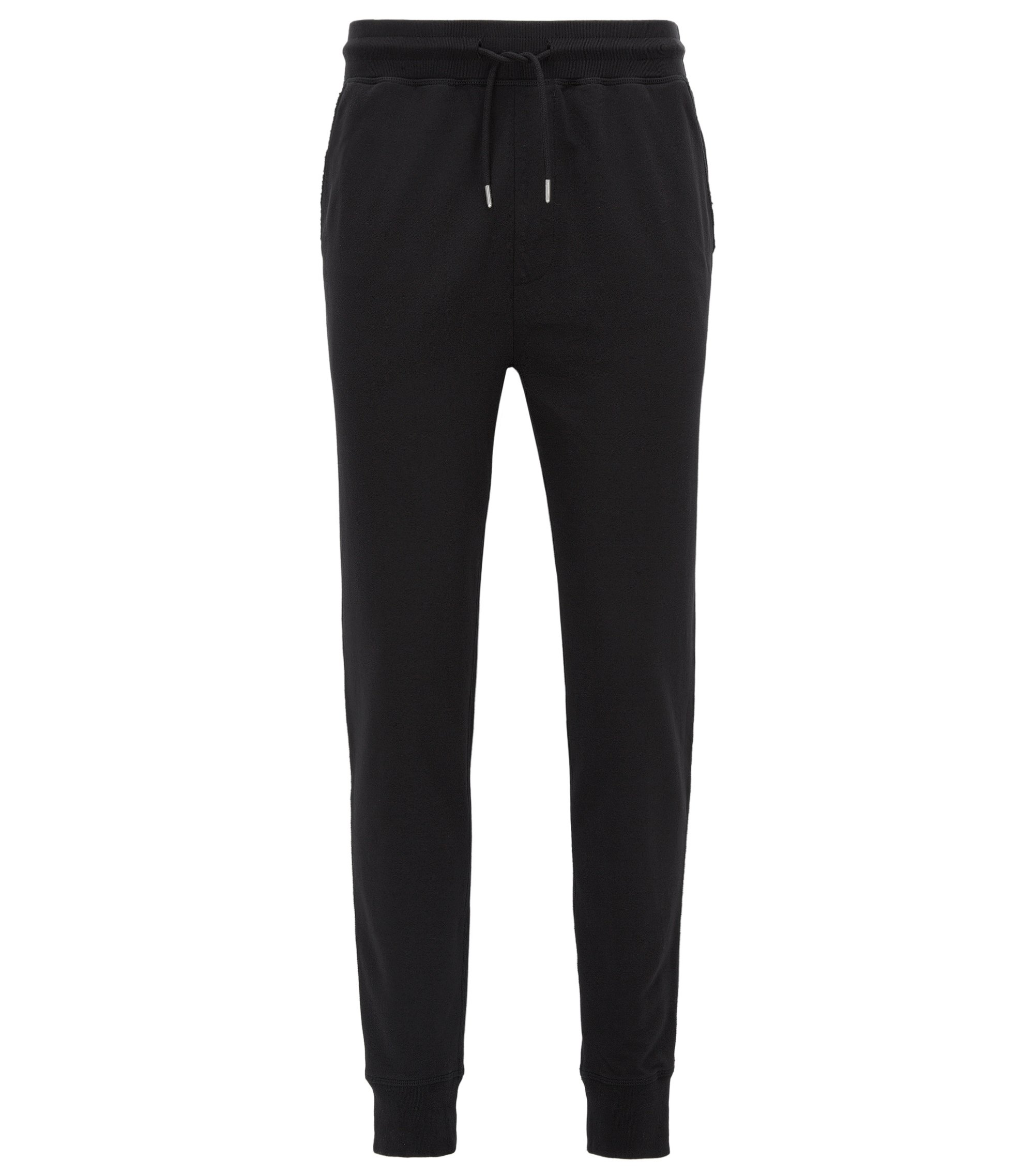 Regular-fit casual trousers in soft jersey, Black